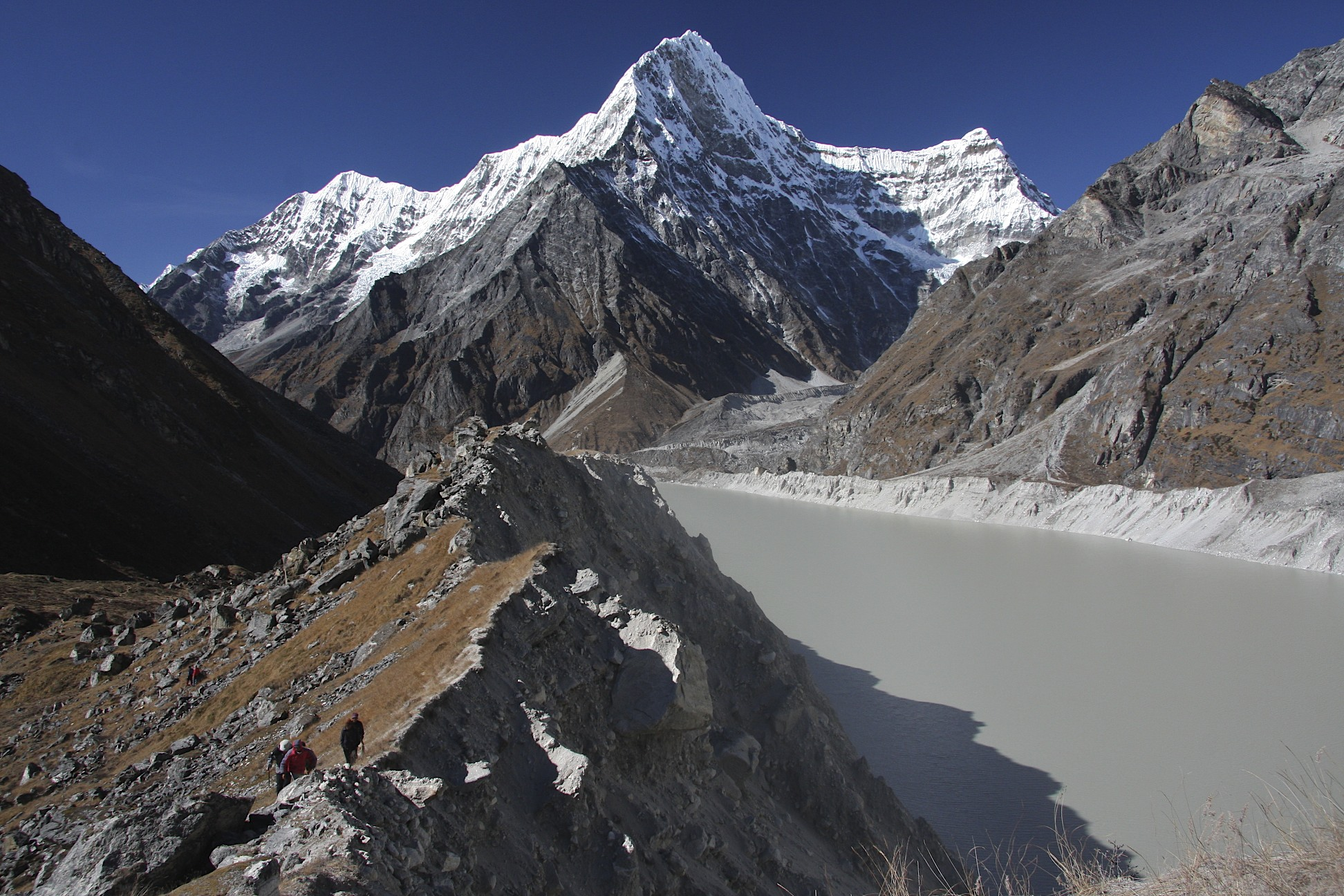 Kang Nachugo and Tso Rolpa Lake