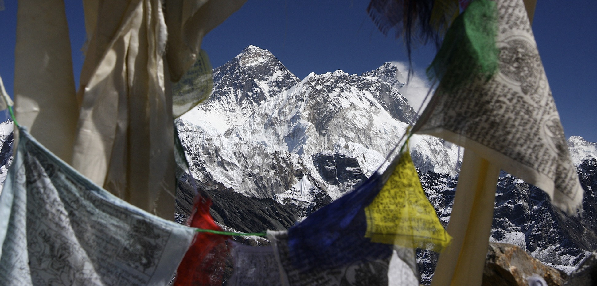 Everest and Lhotse from the Renjo La Pass