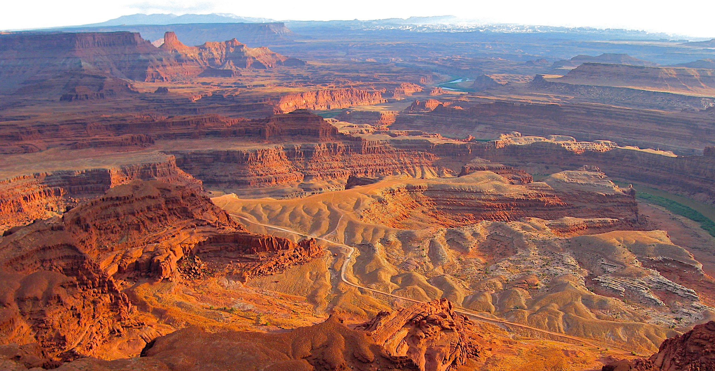 Dead Horse Canyon near Moab, Utah. The view over Canyon lands National Park.