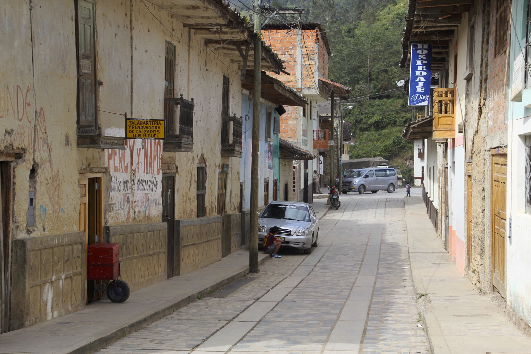 The town of Leymebamba where the magnificent Museo de Leymebamba is located.