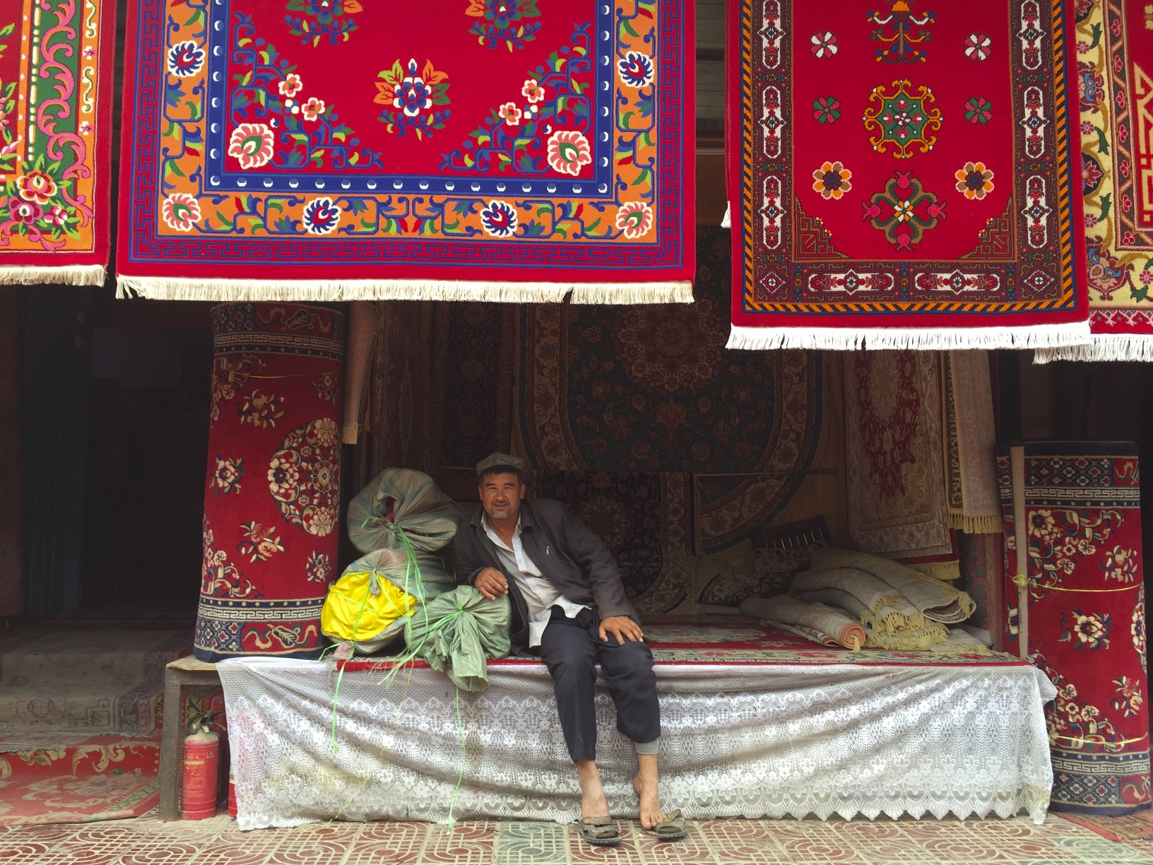 Carpet shop in Hotan