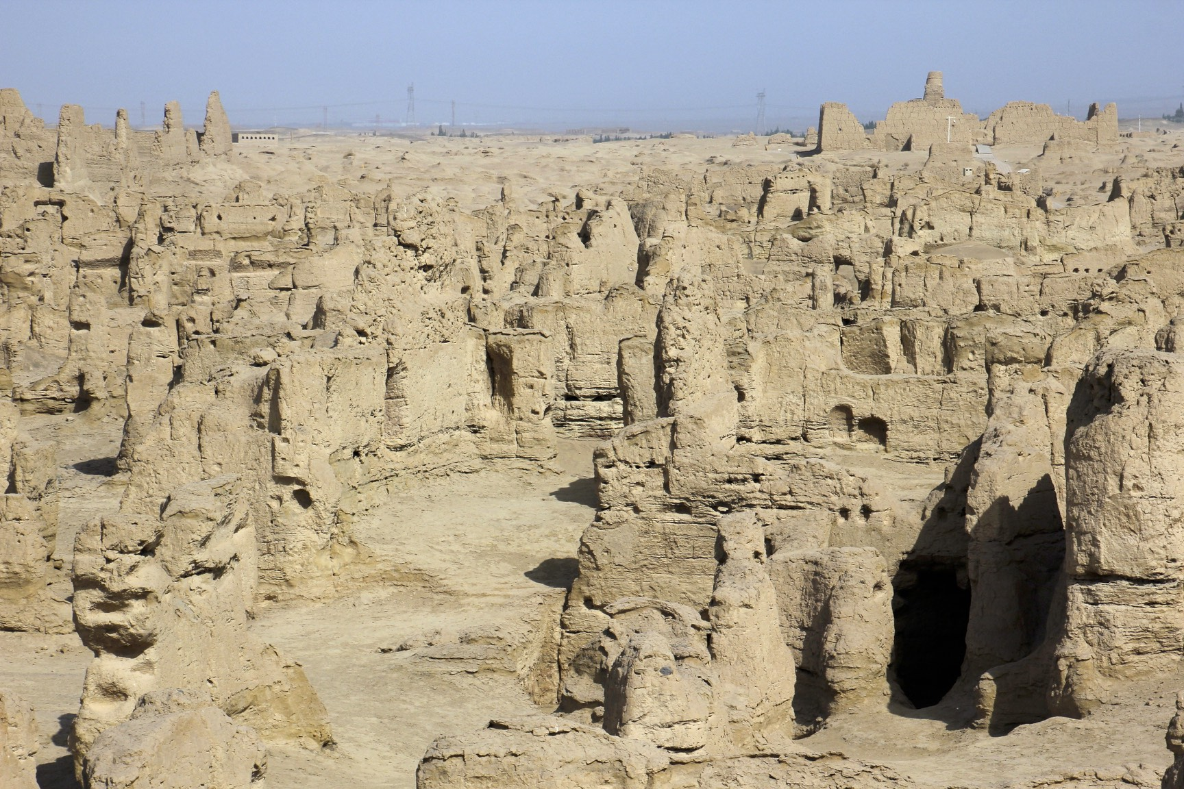 The Jiaohe city Ruins