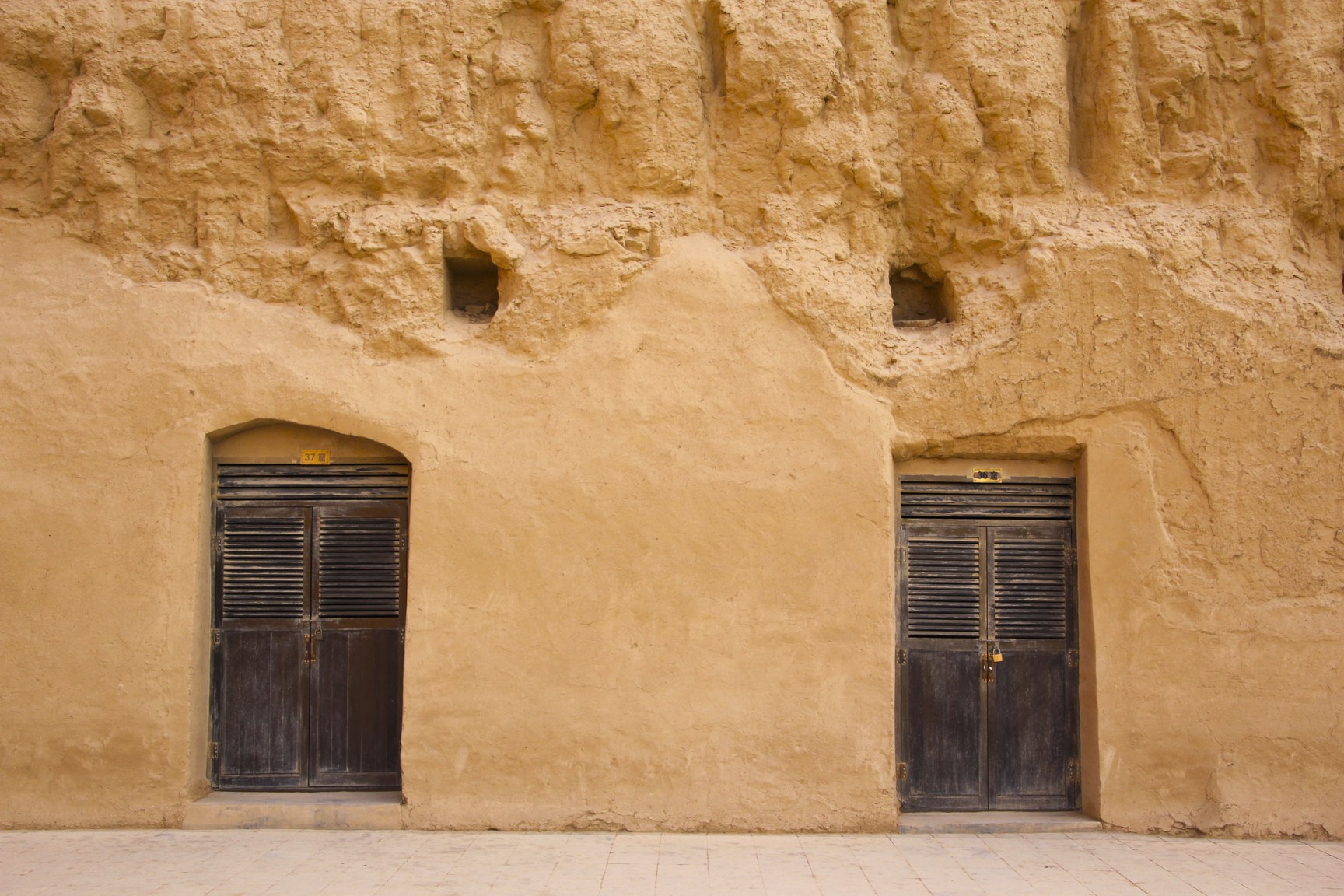 The Bezeklik Thousand Buddha Caves near Turpan.