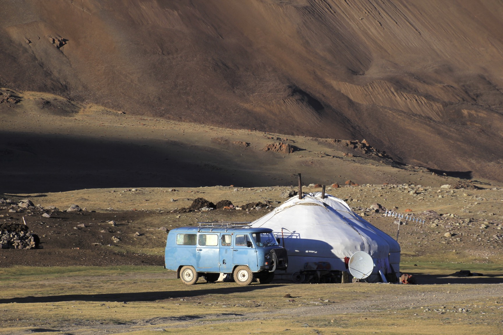 Entrance to the National Park of Tavan Bogd in Western Mongolia