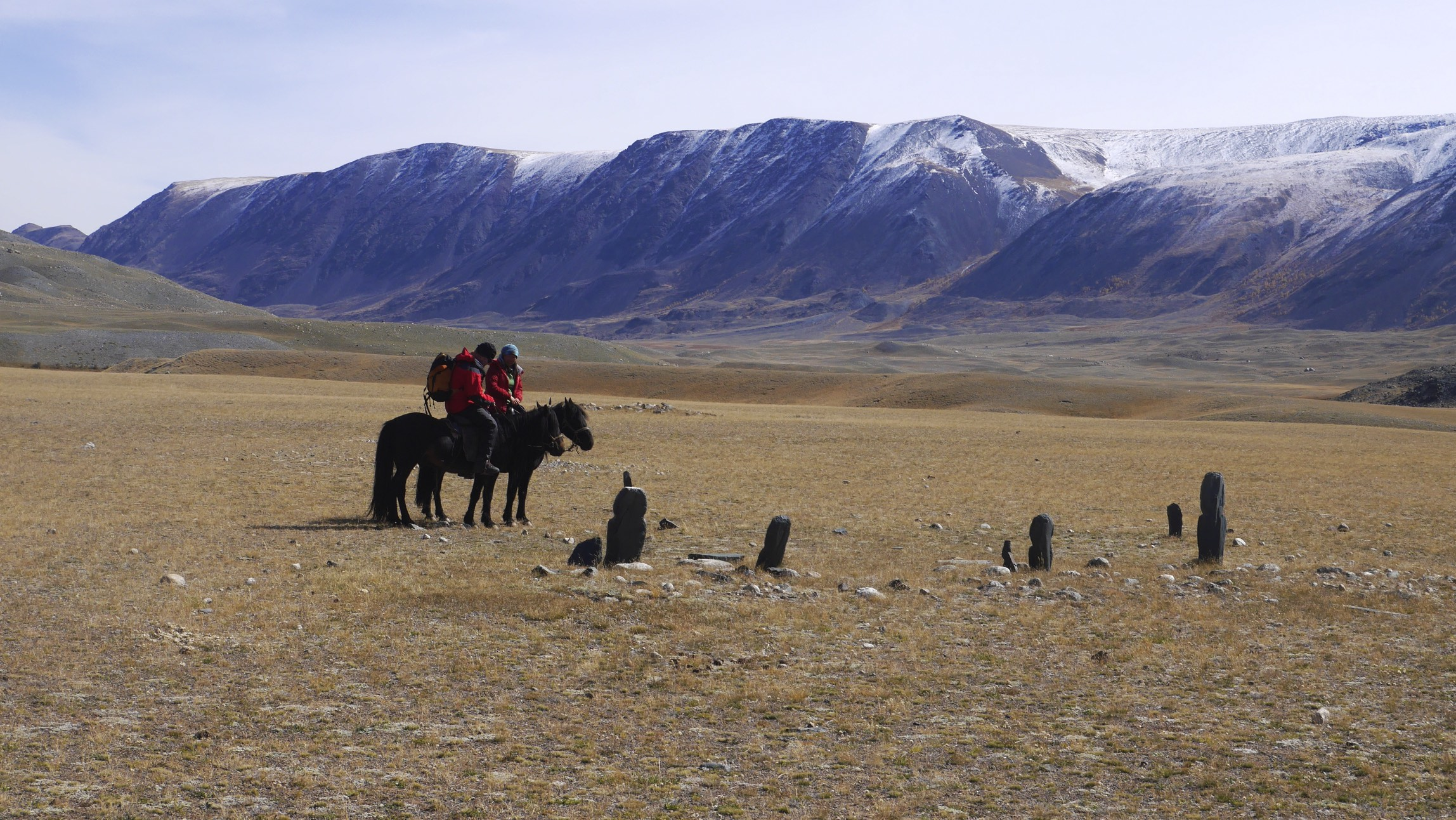 Ancient markers and grave stones in Western Mongolia