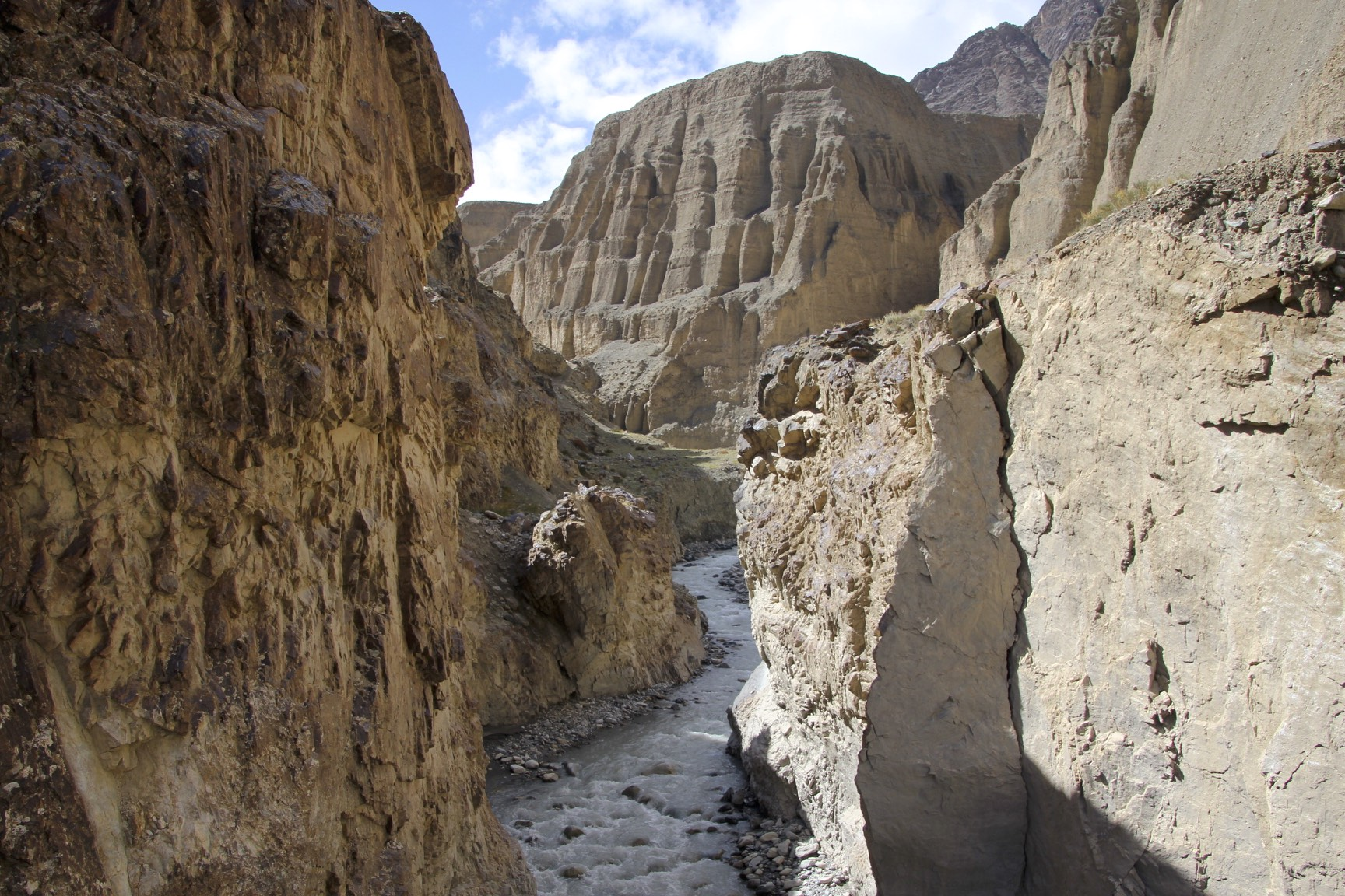 The gorges of the north Karakoram - near Aghil Pass