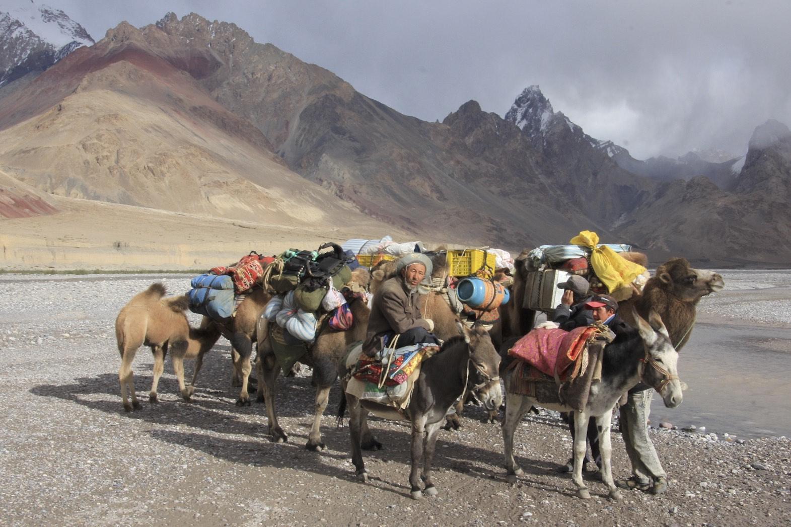 Our caravan in the Shakskam River valley
