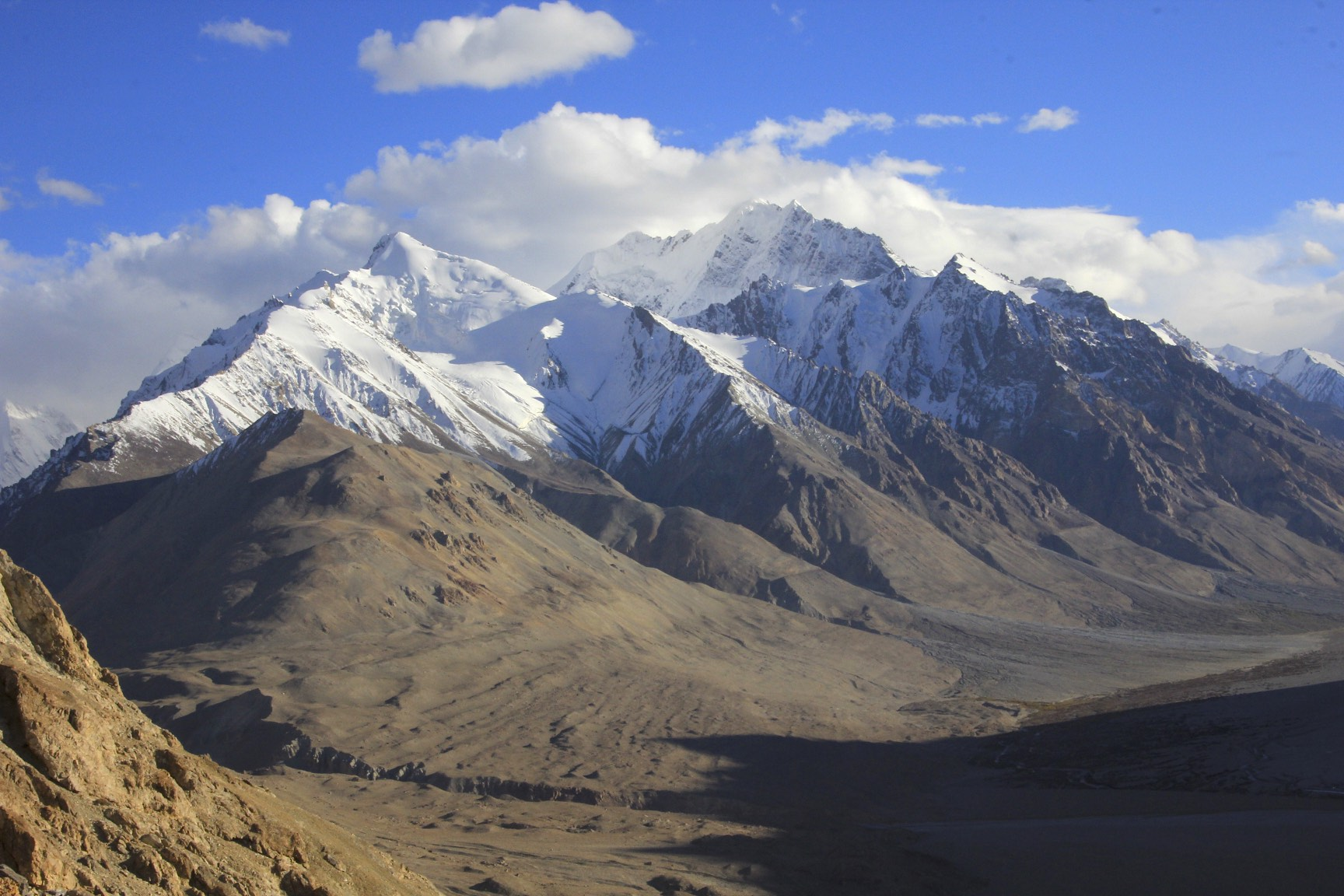 View of the Chinese Base Camp - the last non glacier camp before K2 glacier