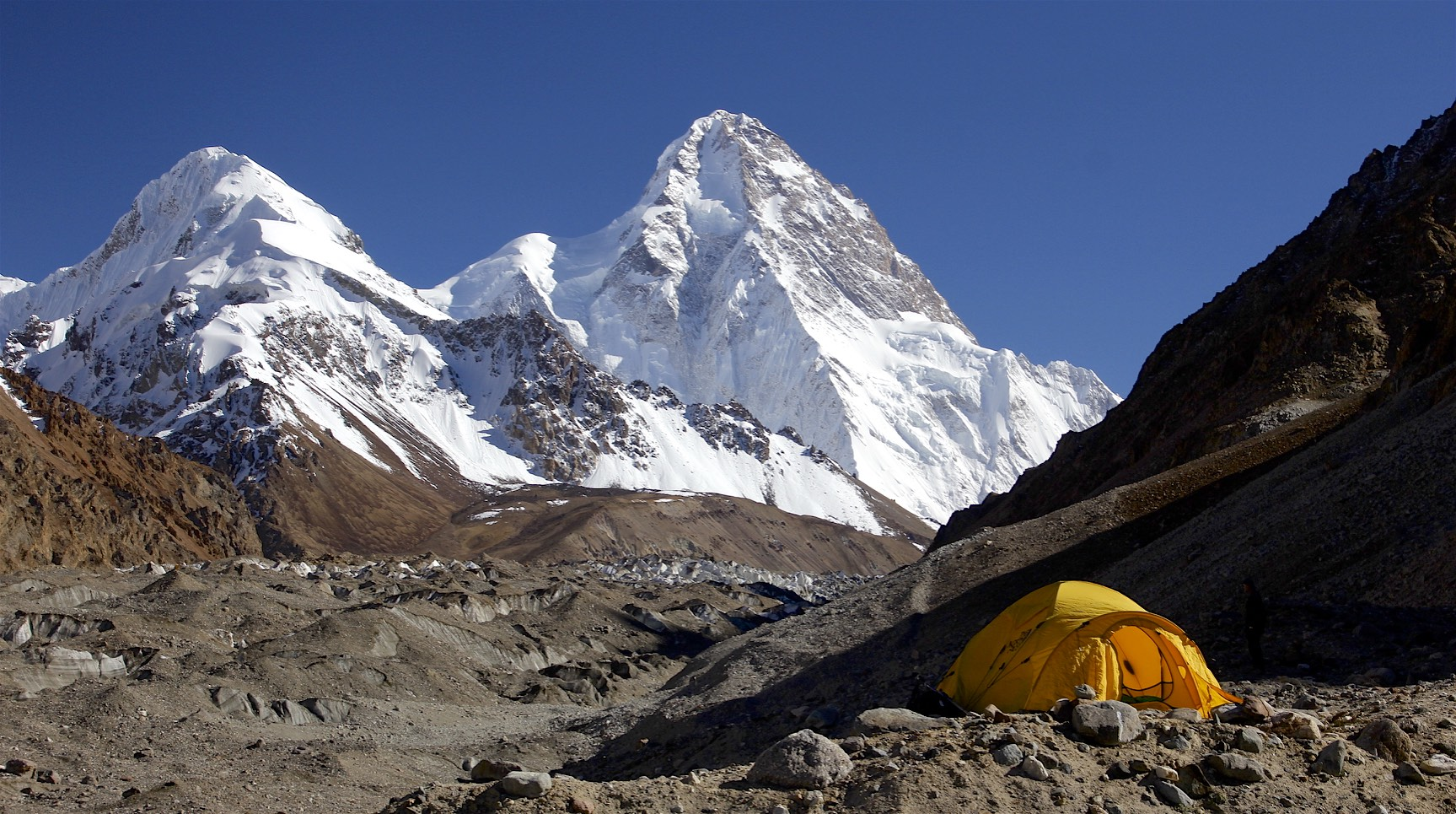 The Italian BC on the K2 Glacier