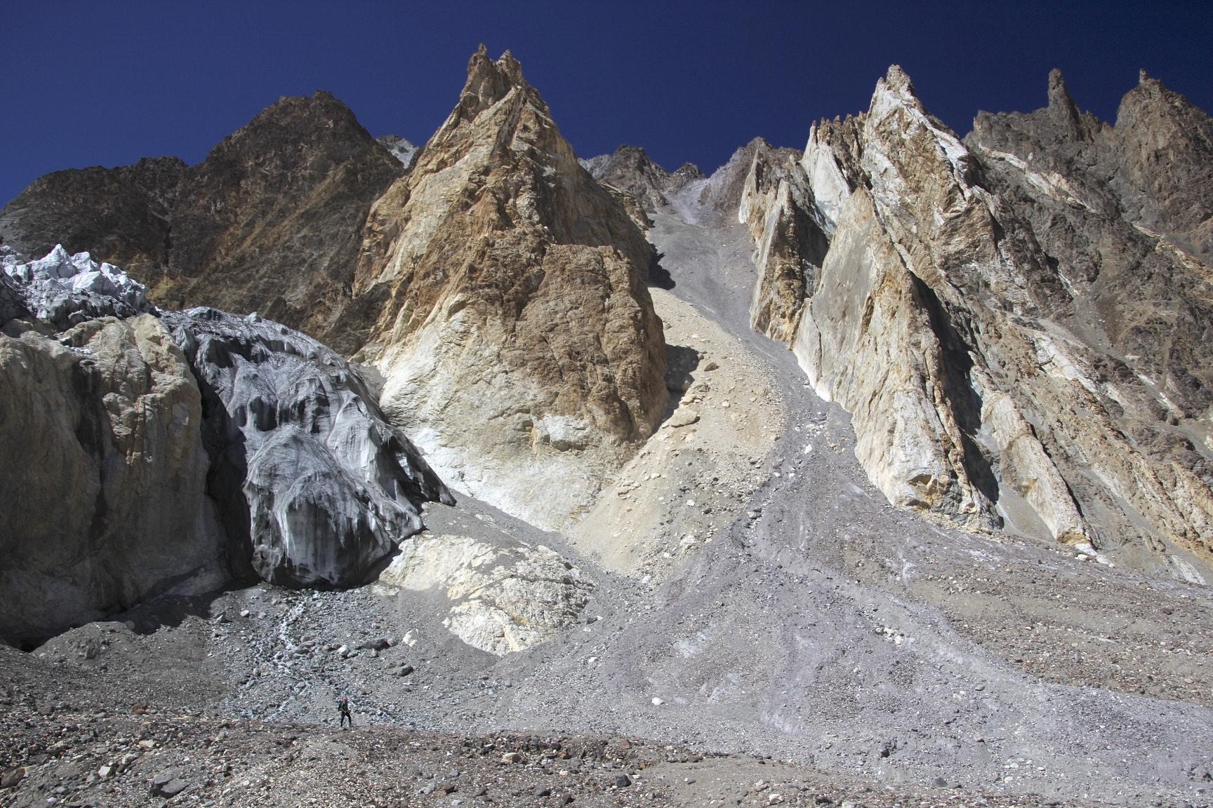 Mountains along the K2 Glacier