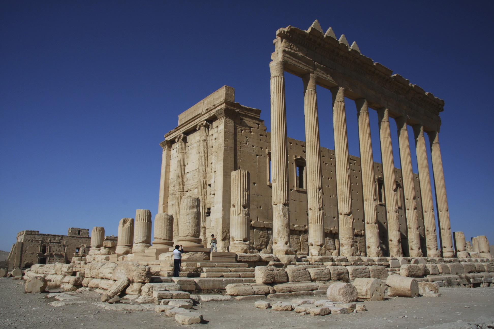 The Temple of Bel built in 32 AD and destroyed in 2015