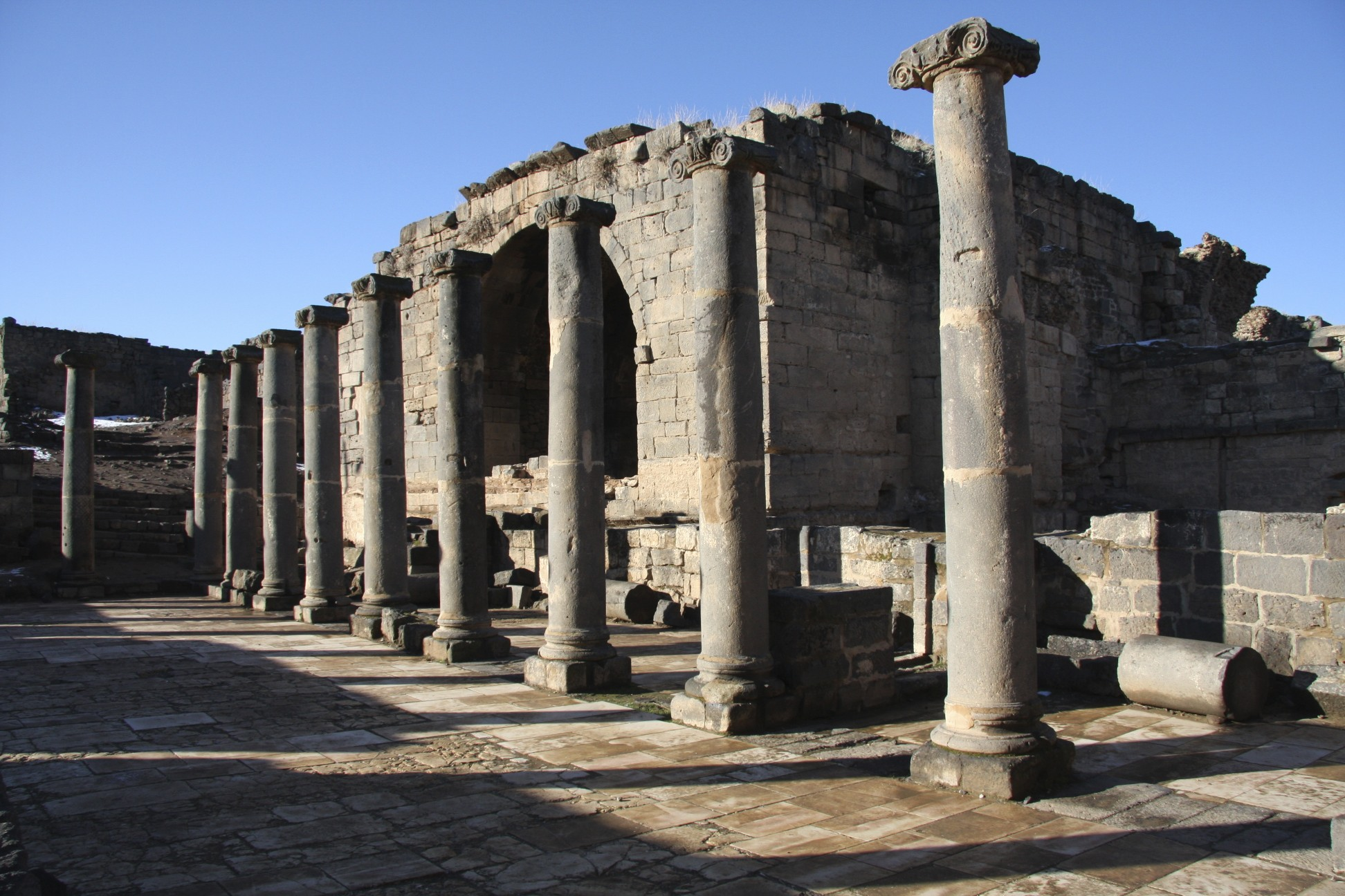 The ancient Roman city of Bosra