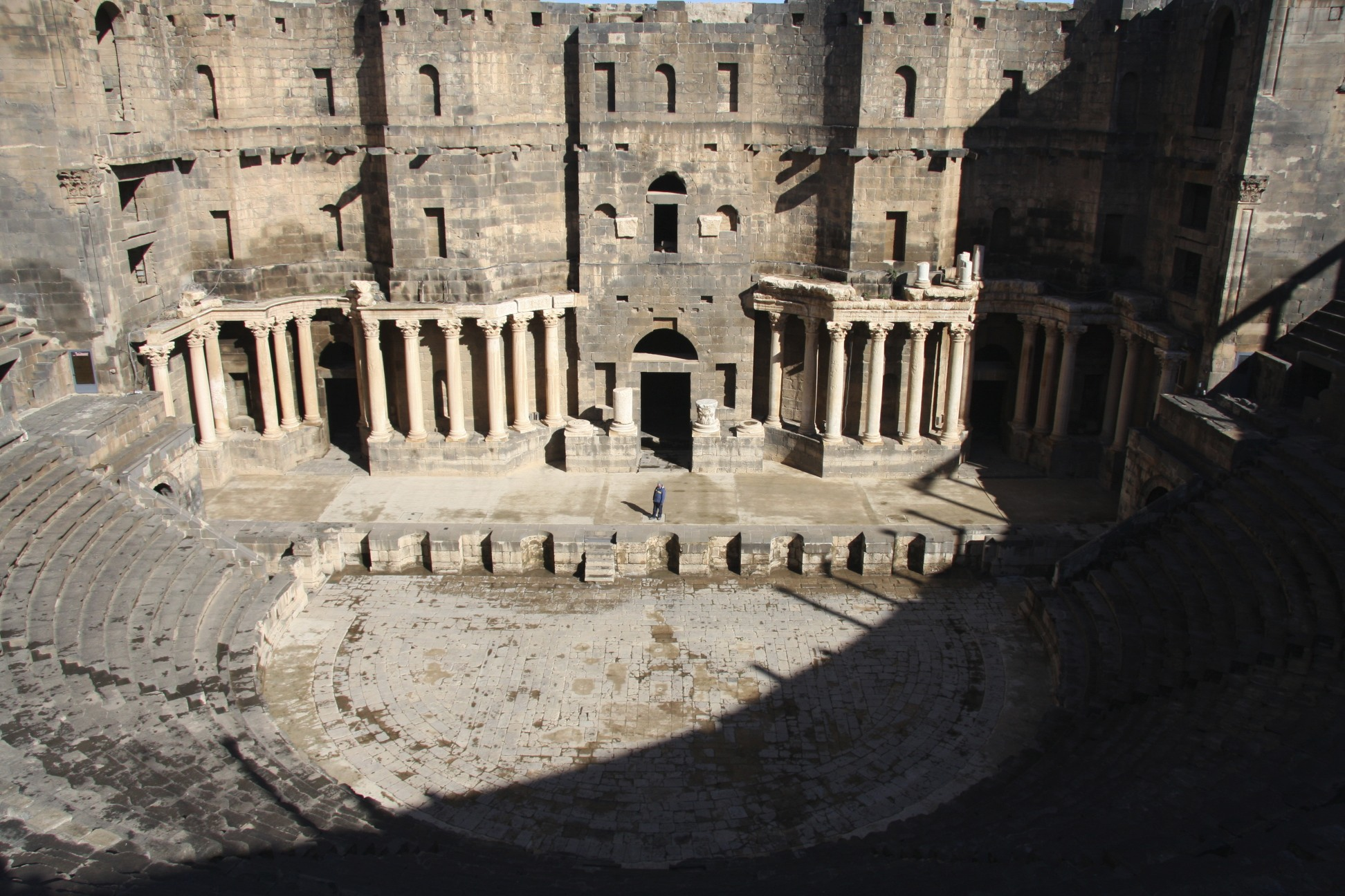The Roman theatre built in year 150 AD