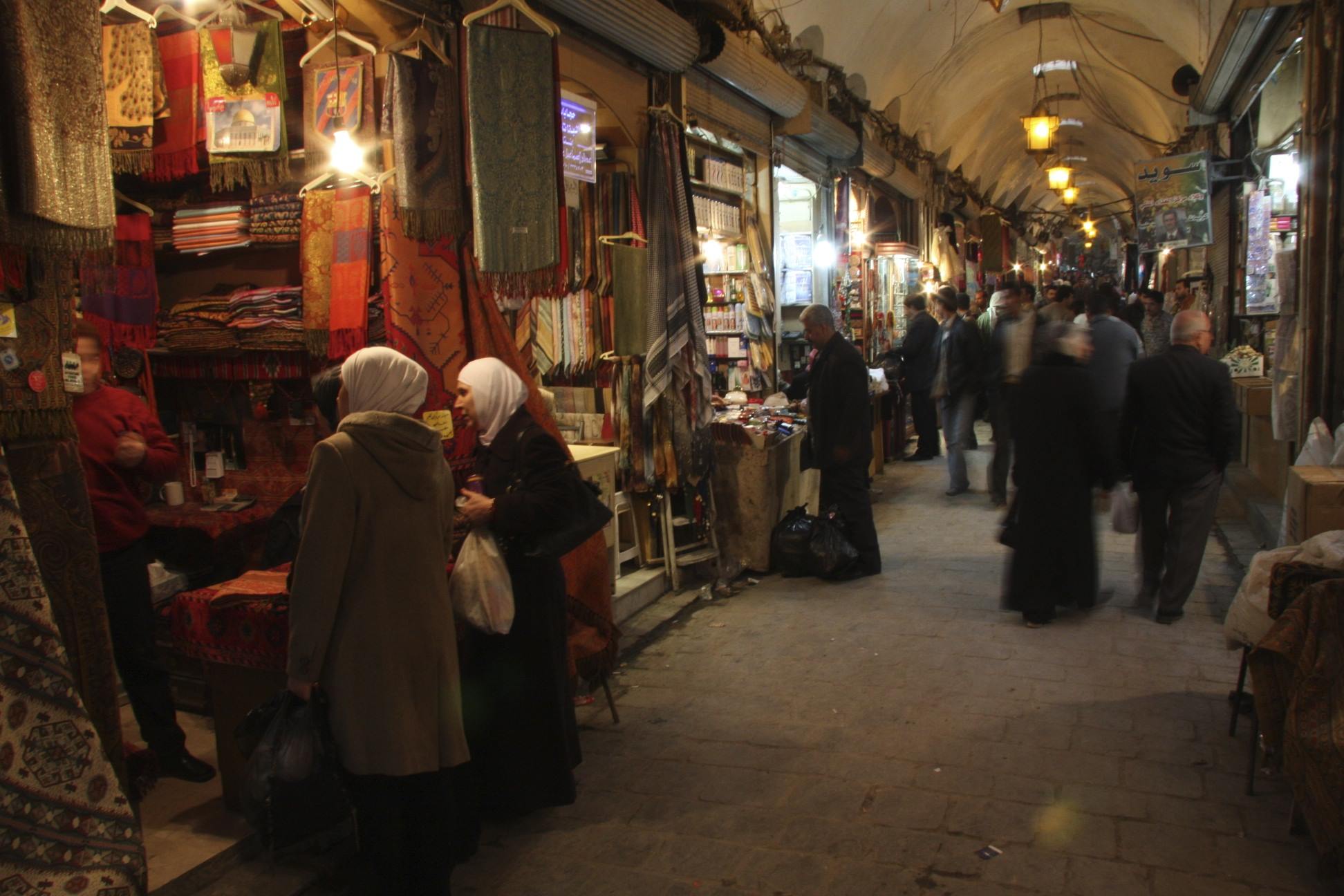 The souq of Aleppo.