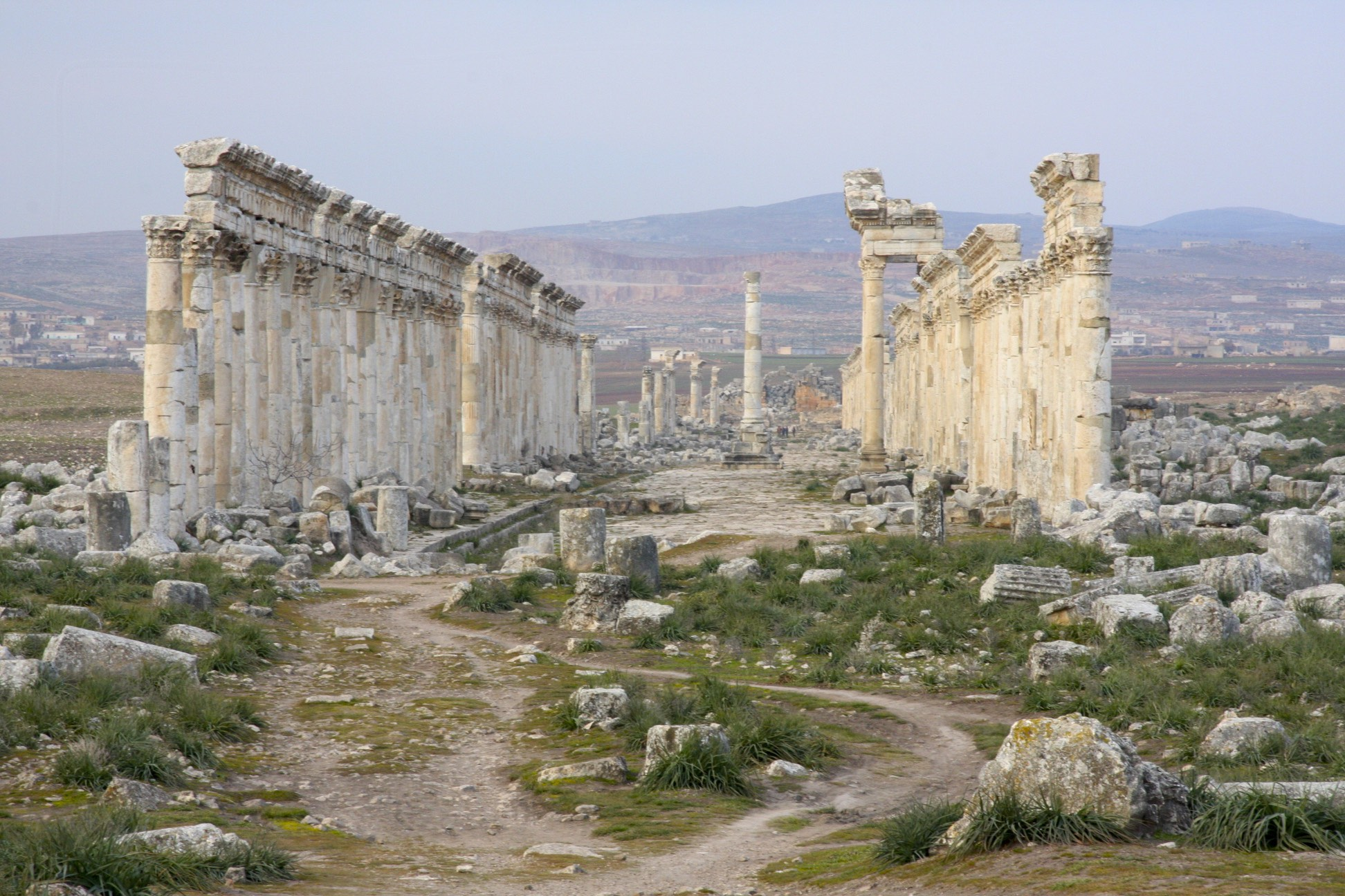 The ancient Roman City of Apamea established in 300 BC.