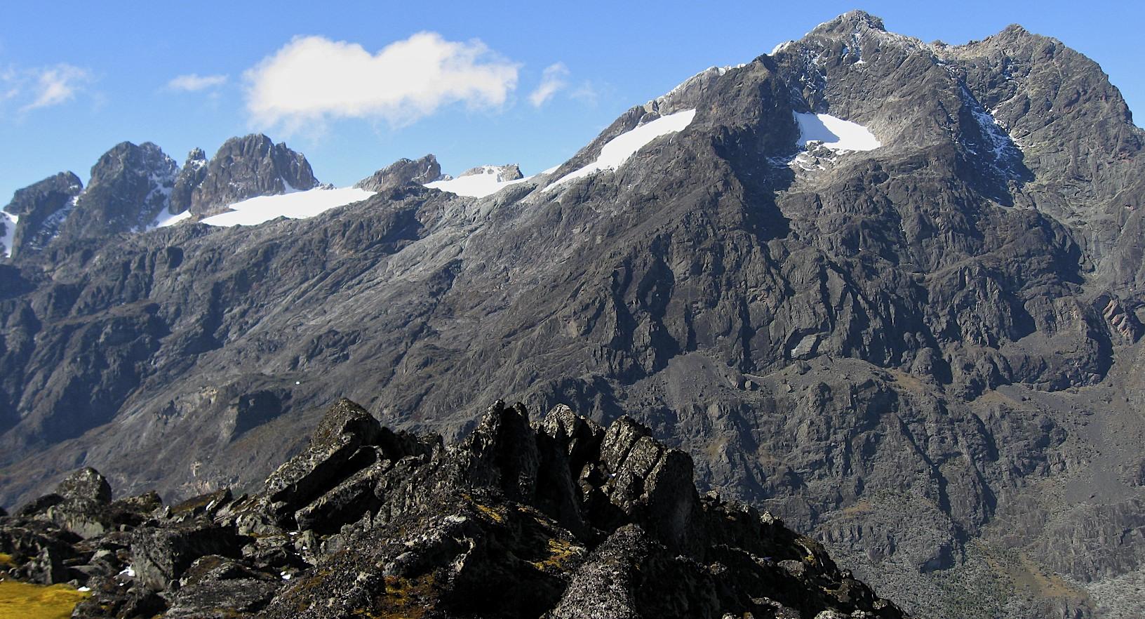 Mt. Margarita 5,109m from Mt. Speke