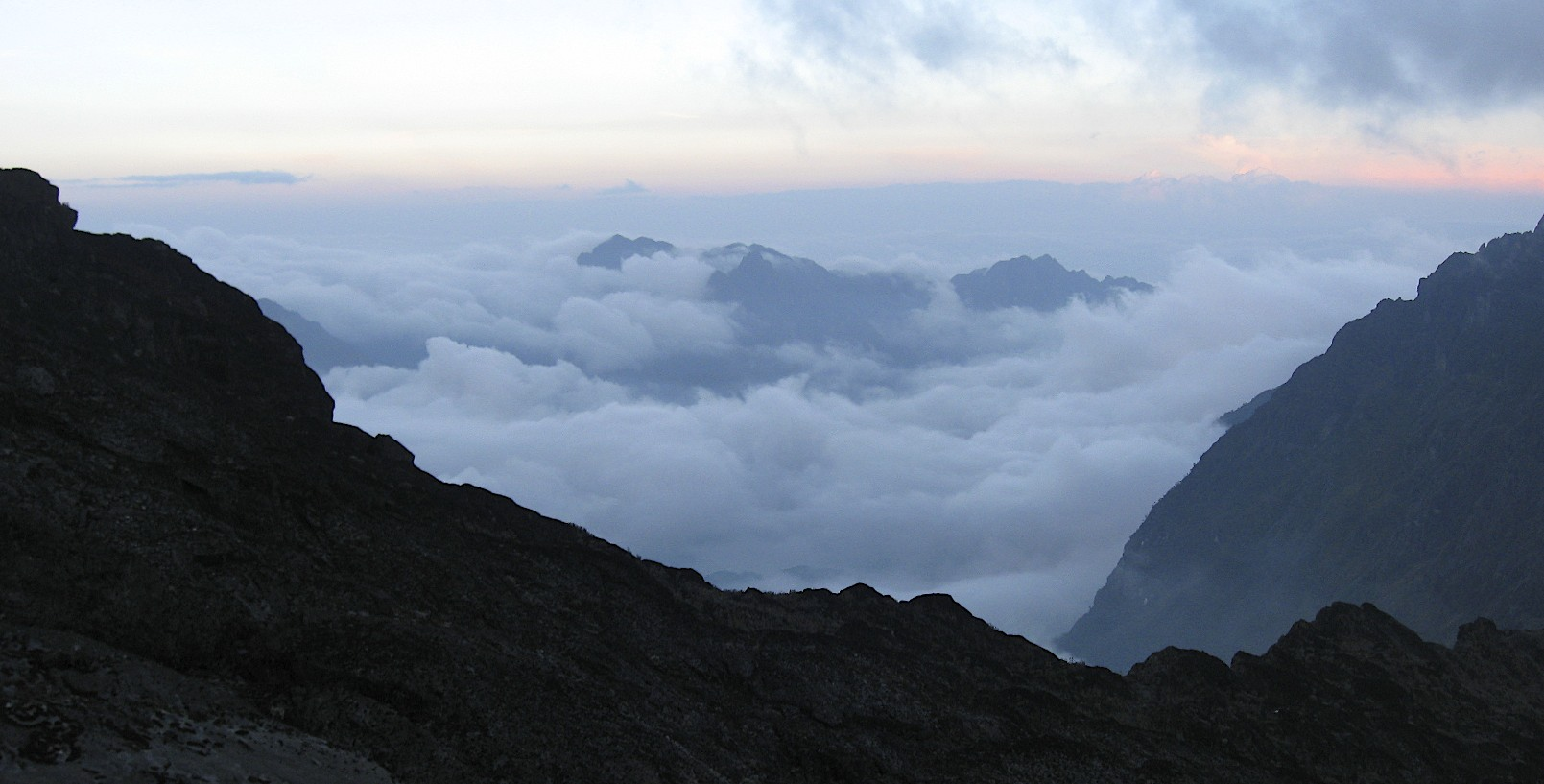 View from Elena Hut 4,500m