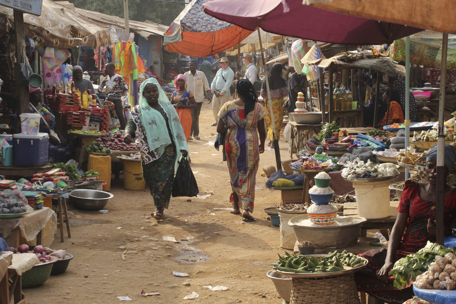Local market in Sokode, Togo