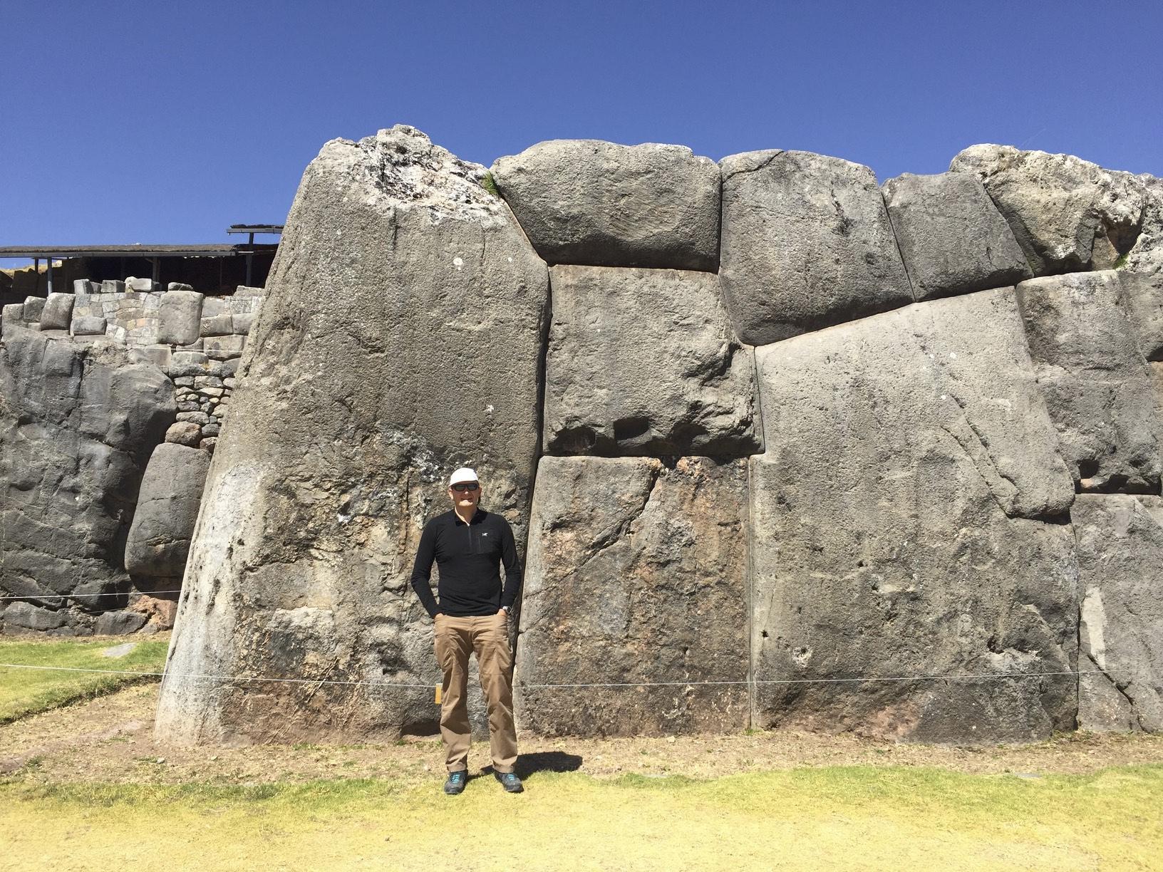 The monolithic walls of Saksaywaman