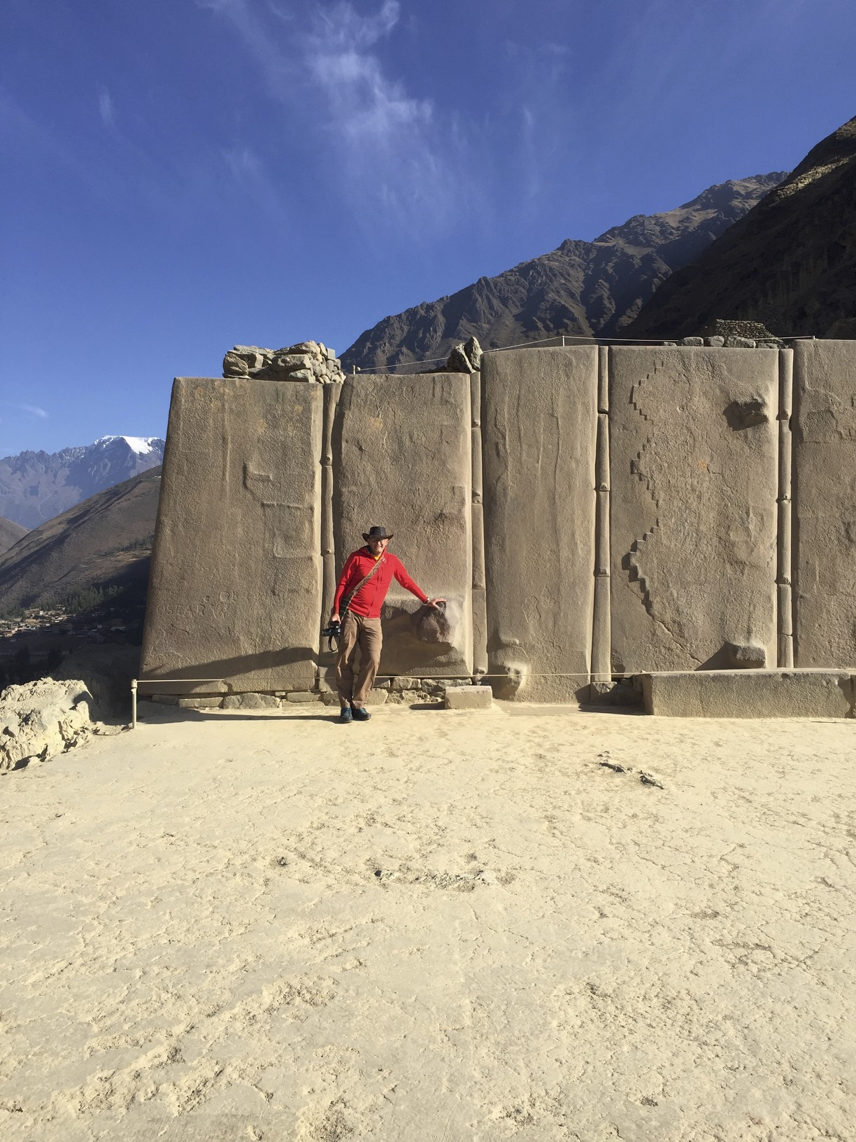 The Ollantaytambo Fortress the Wall of the Six Monoliths.