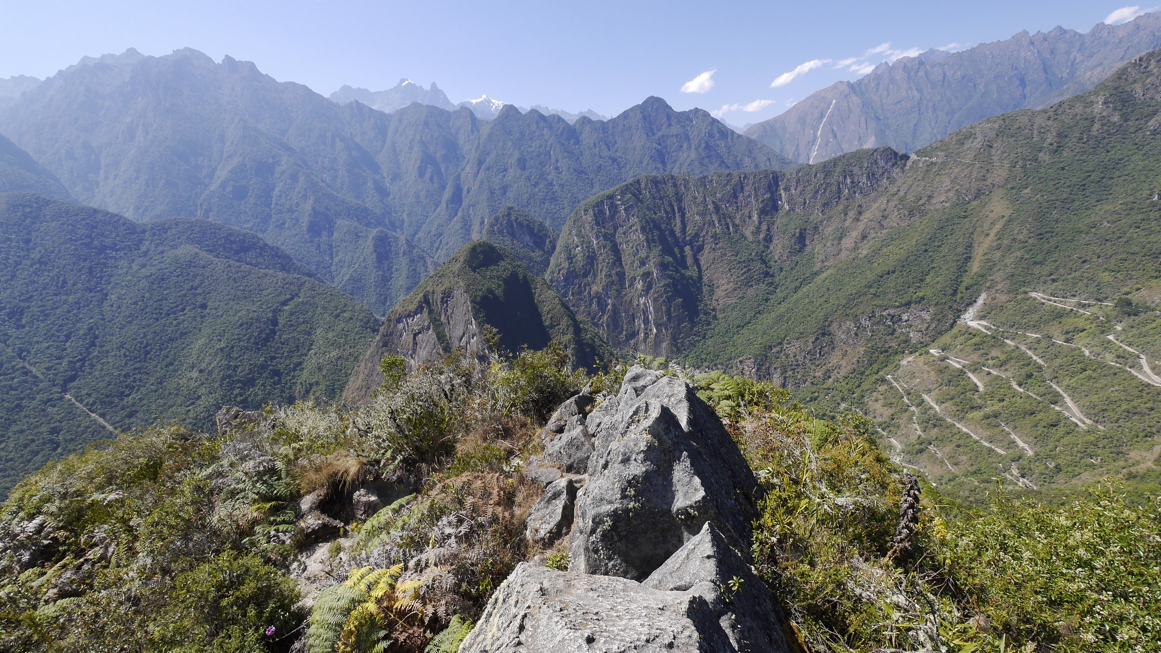 The top of Huayna Picchu