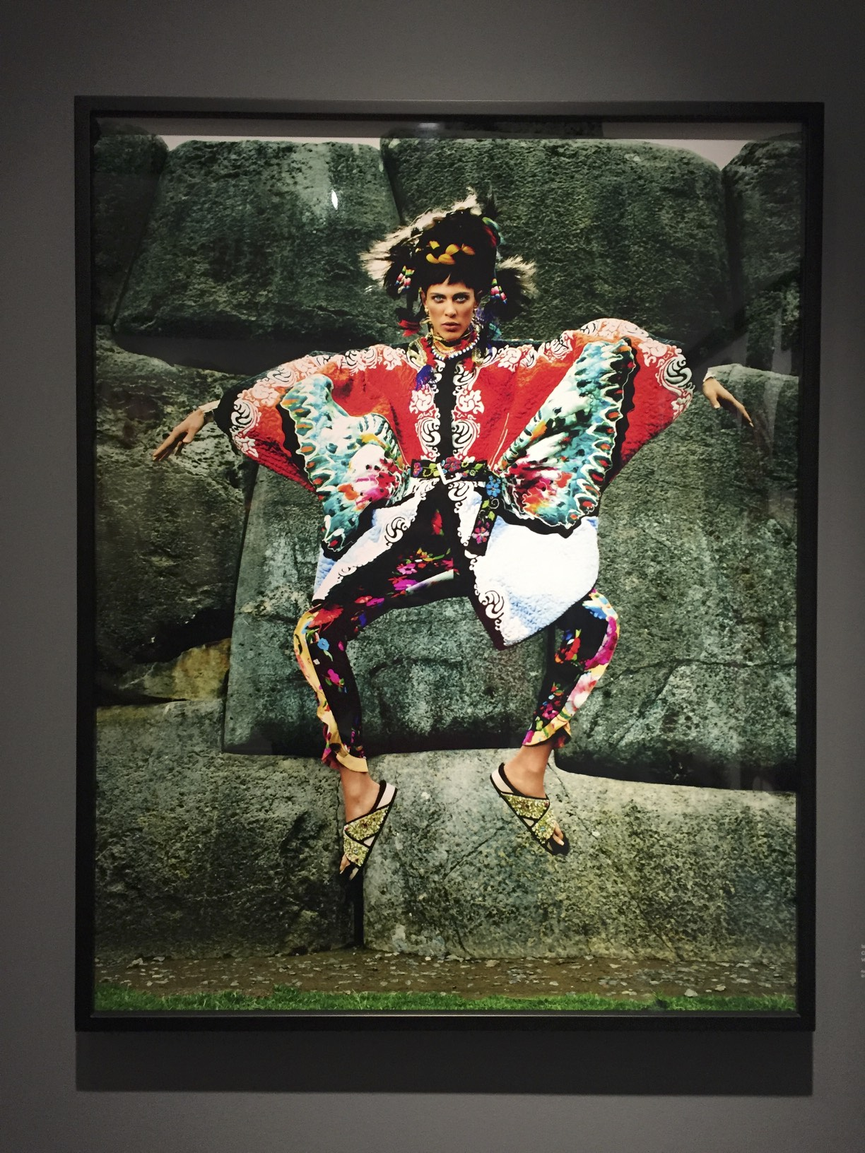 Mario Testino's take on the Inca traditional wears