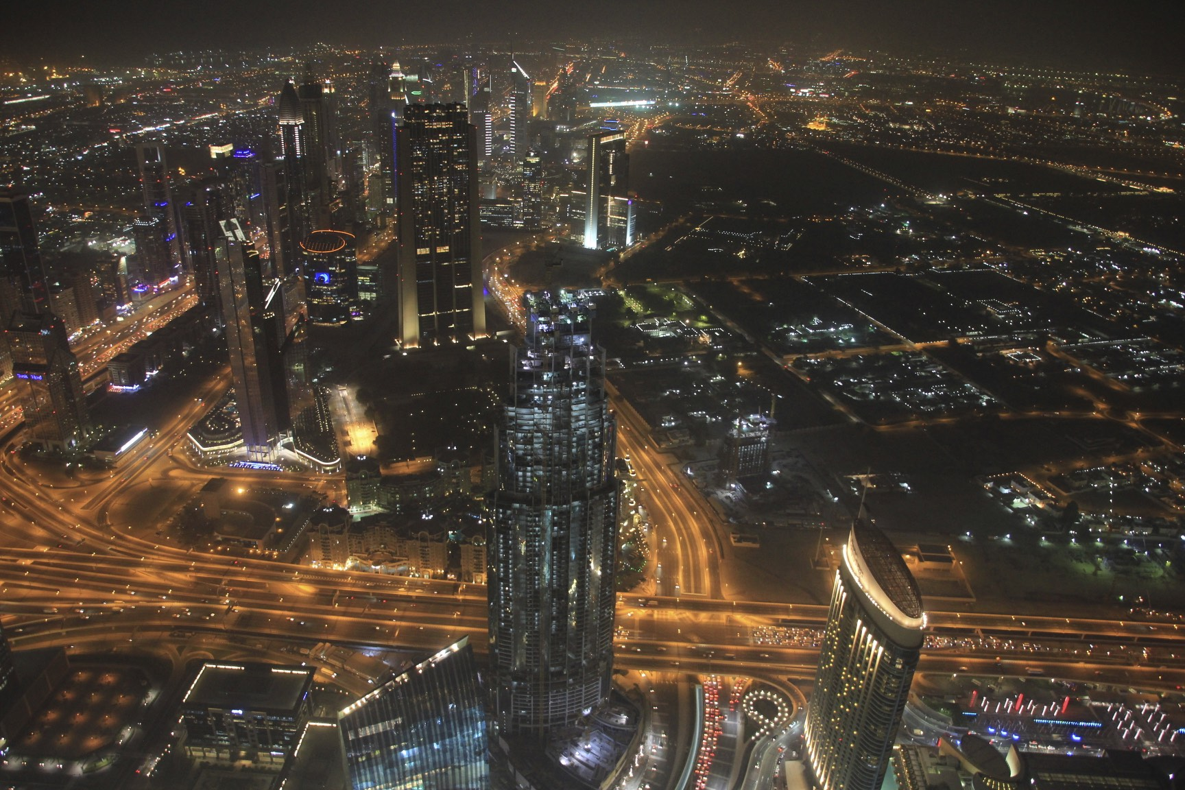 The view from 123 floor of the Burj Kalifa