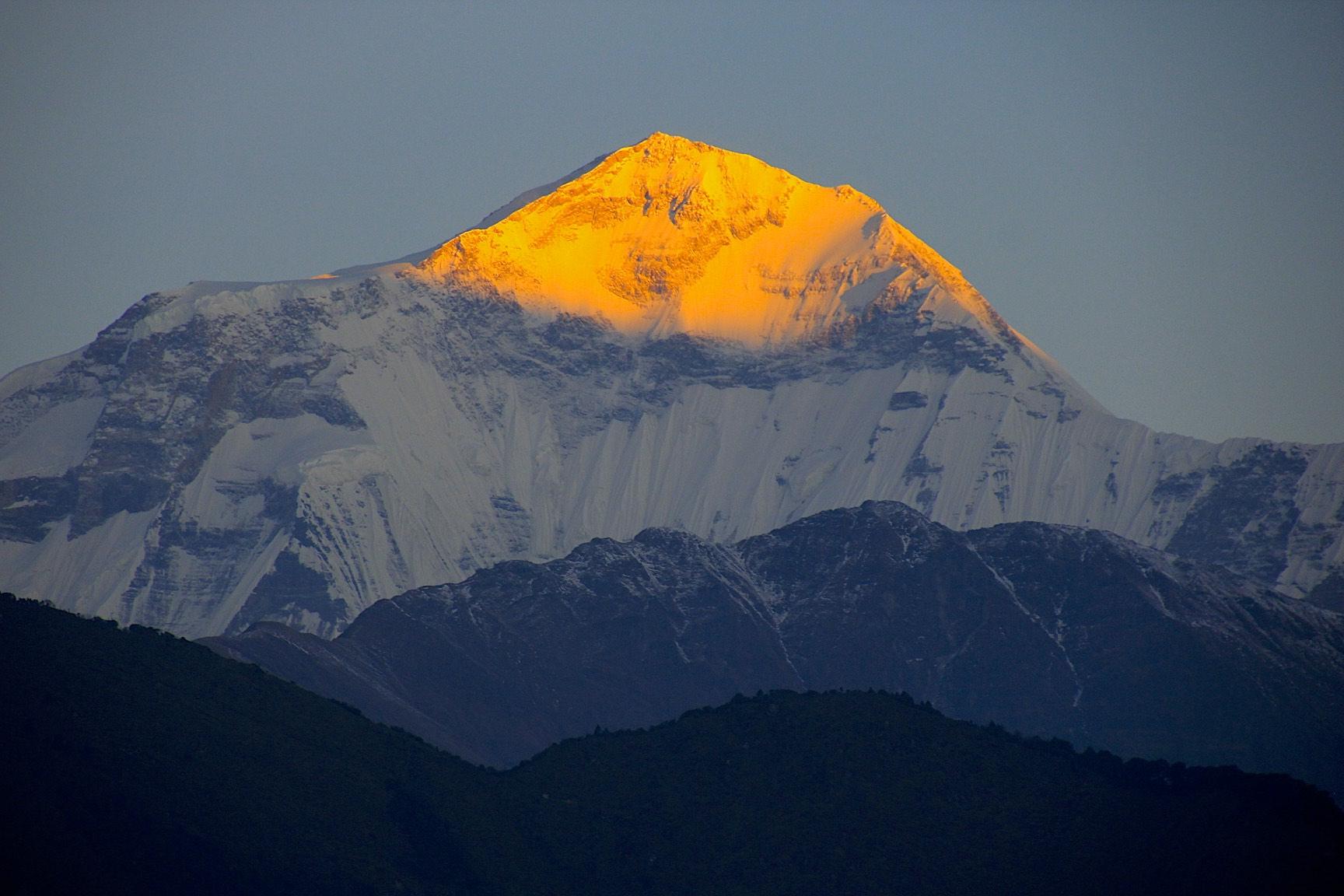 Dhaulagiri at sunrise