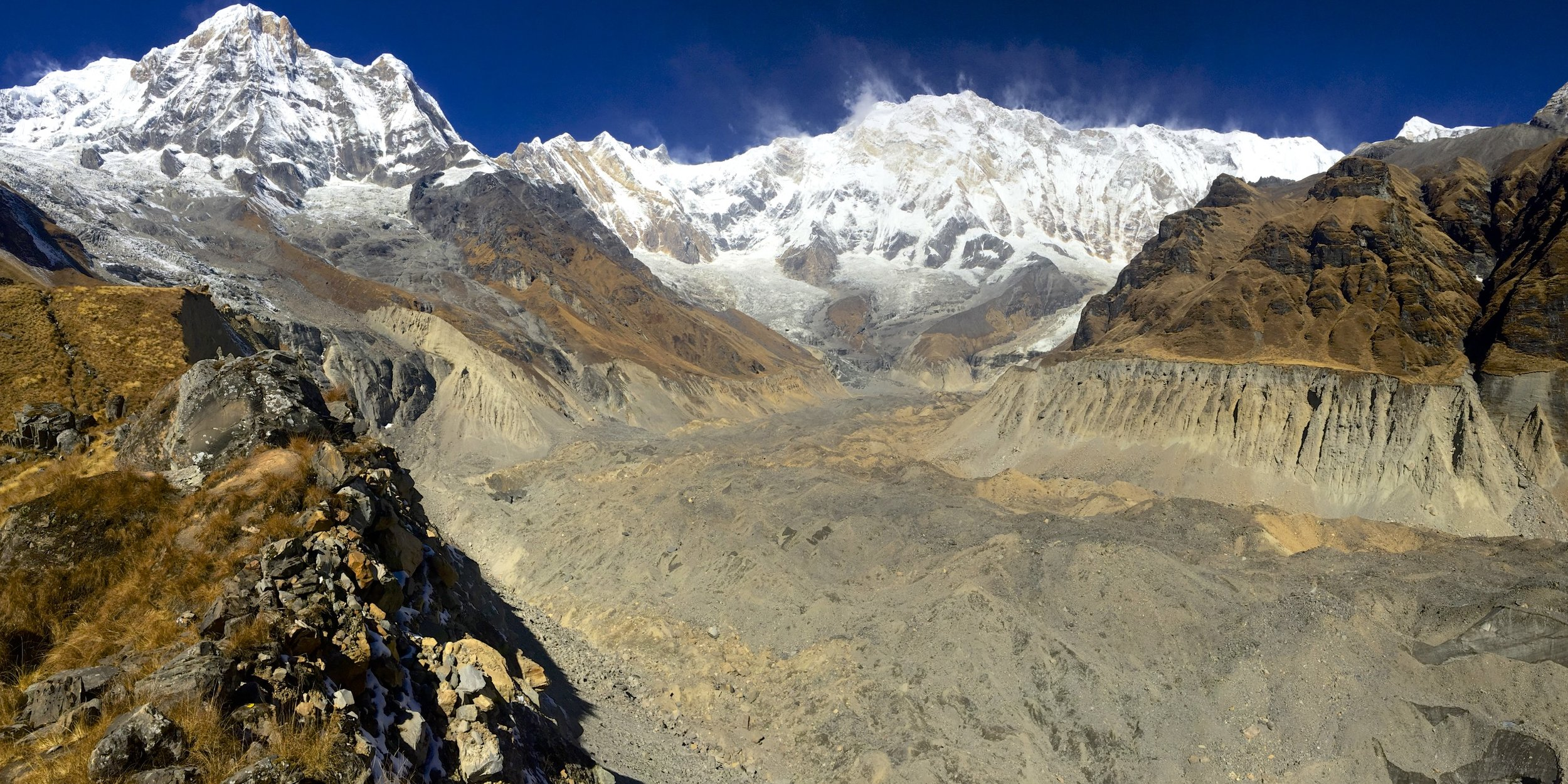 Annapurna I and the Annapurna Glacier