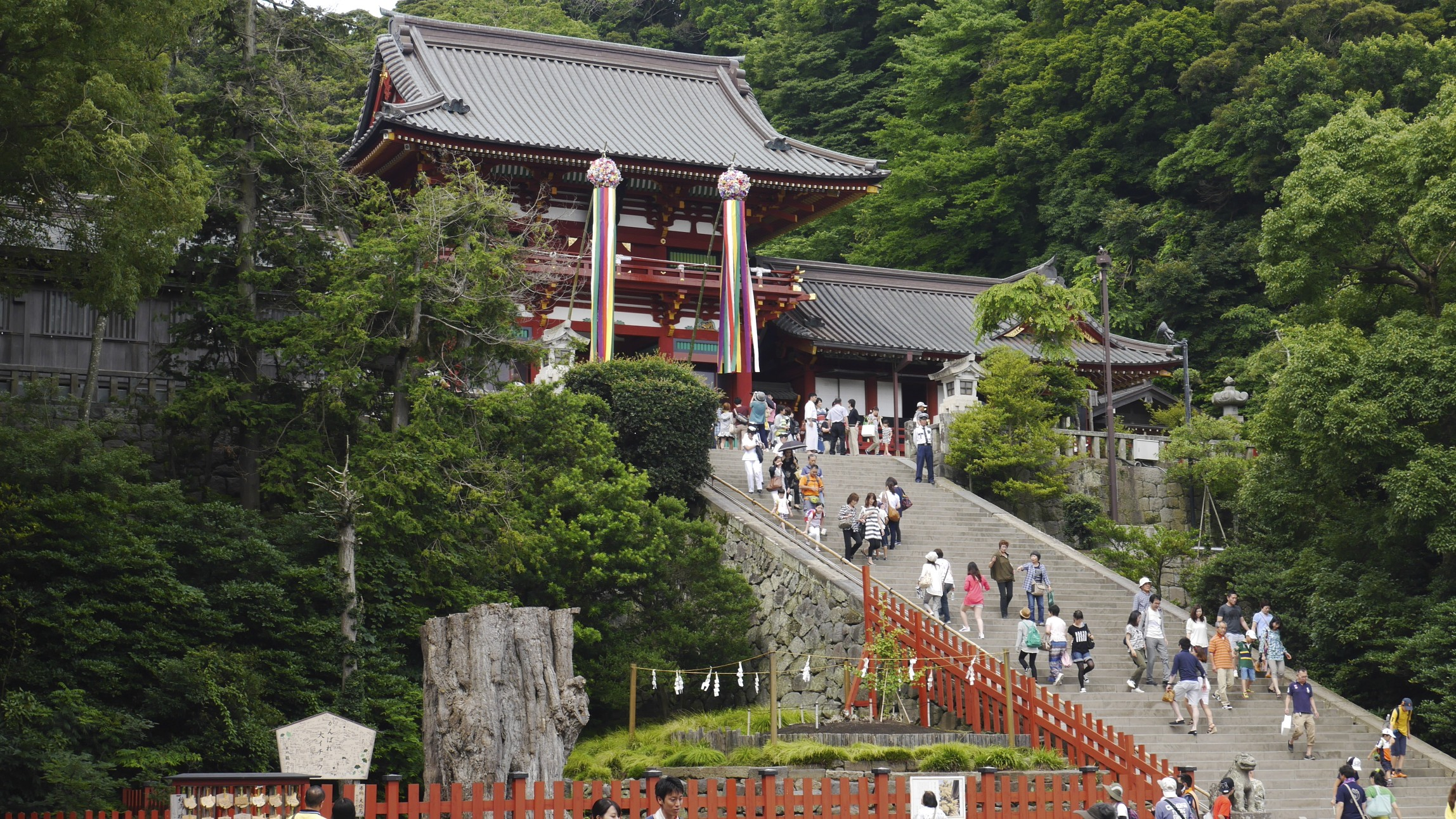Tsurugaoka Hachimangū  is the most important Shinto Shrine in the city of Kamakura, Kanagawa Prefecture, Japan. This shrine was originally built in 1063. Both the shrine and the city were built with Feng Shui in mind.