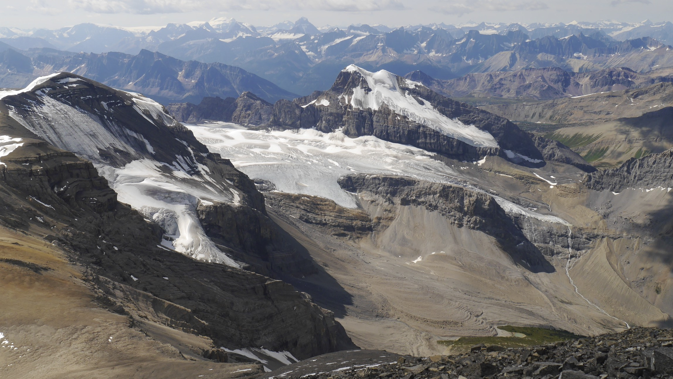 The view from the summit of Mt. Brazeau