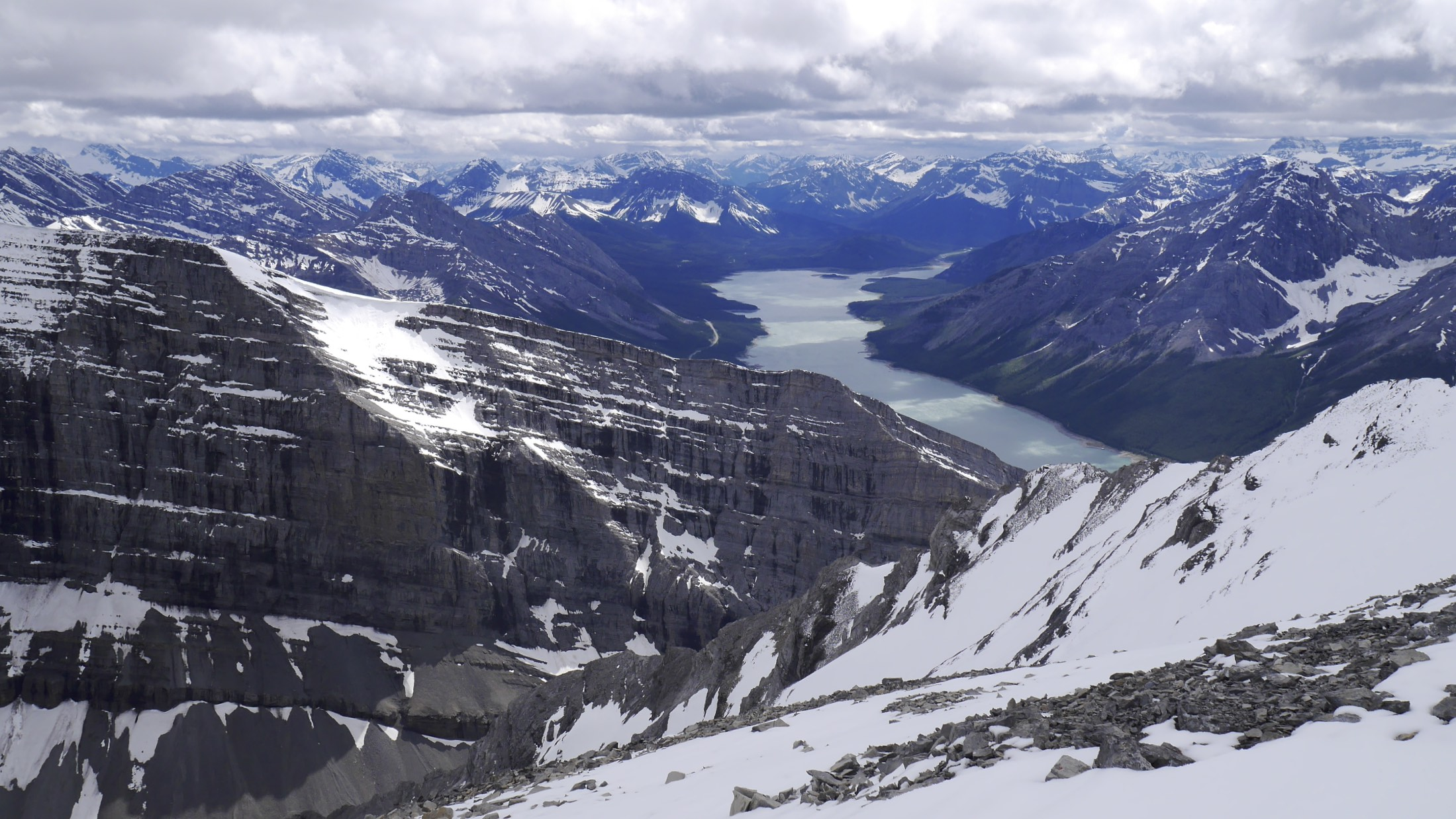 Spray Lake from Mt. Lougheed