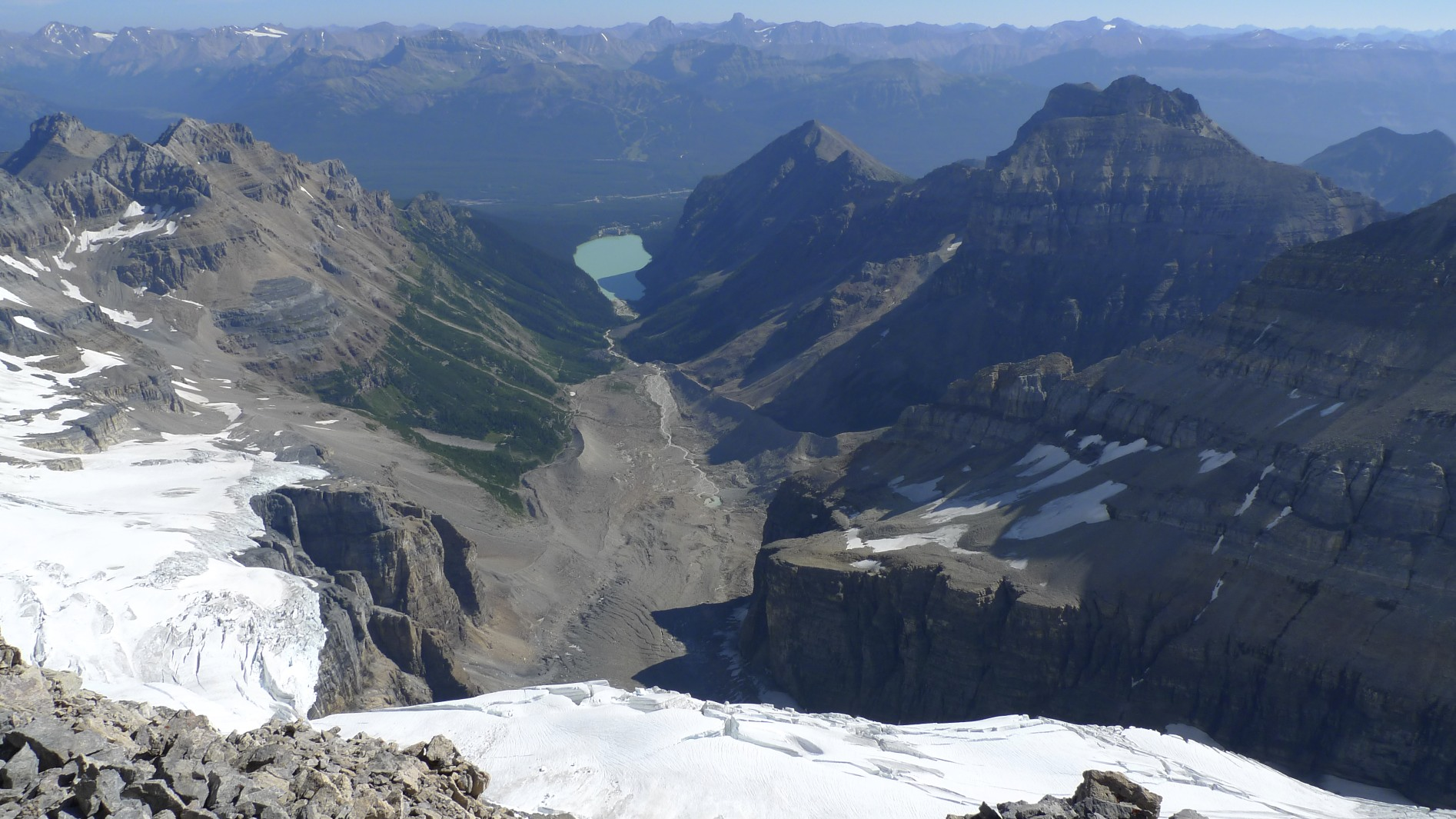 Lake Louise from the summit of Mt. Victoria