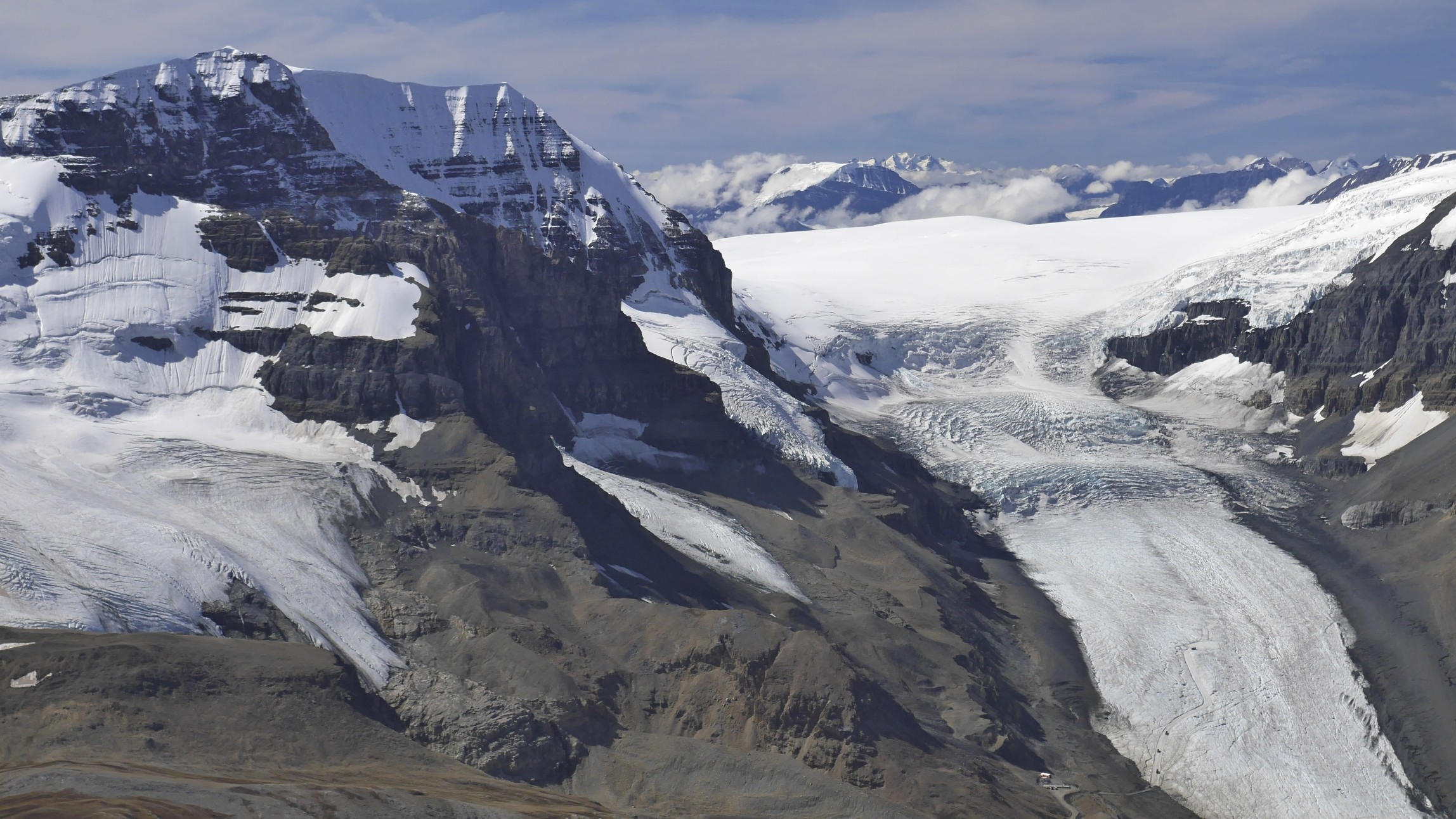 Mt. Andromeda and the Athabasca Glacier from Nigel Peak