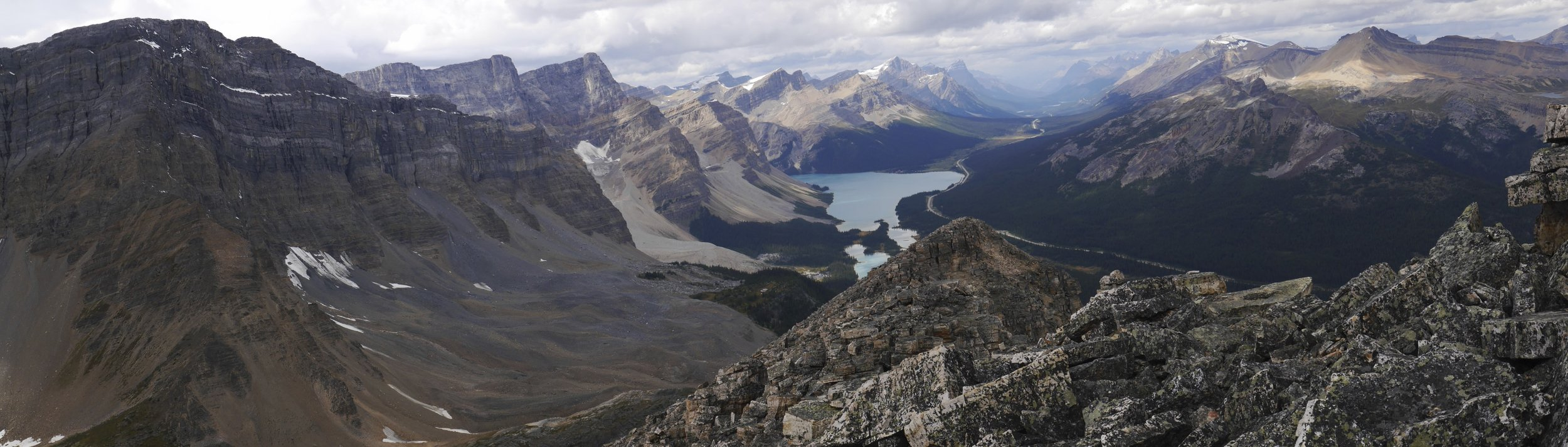 Bow Lake from the Bow Summit