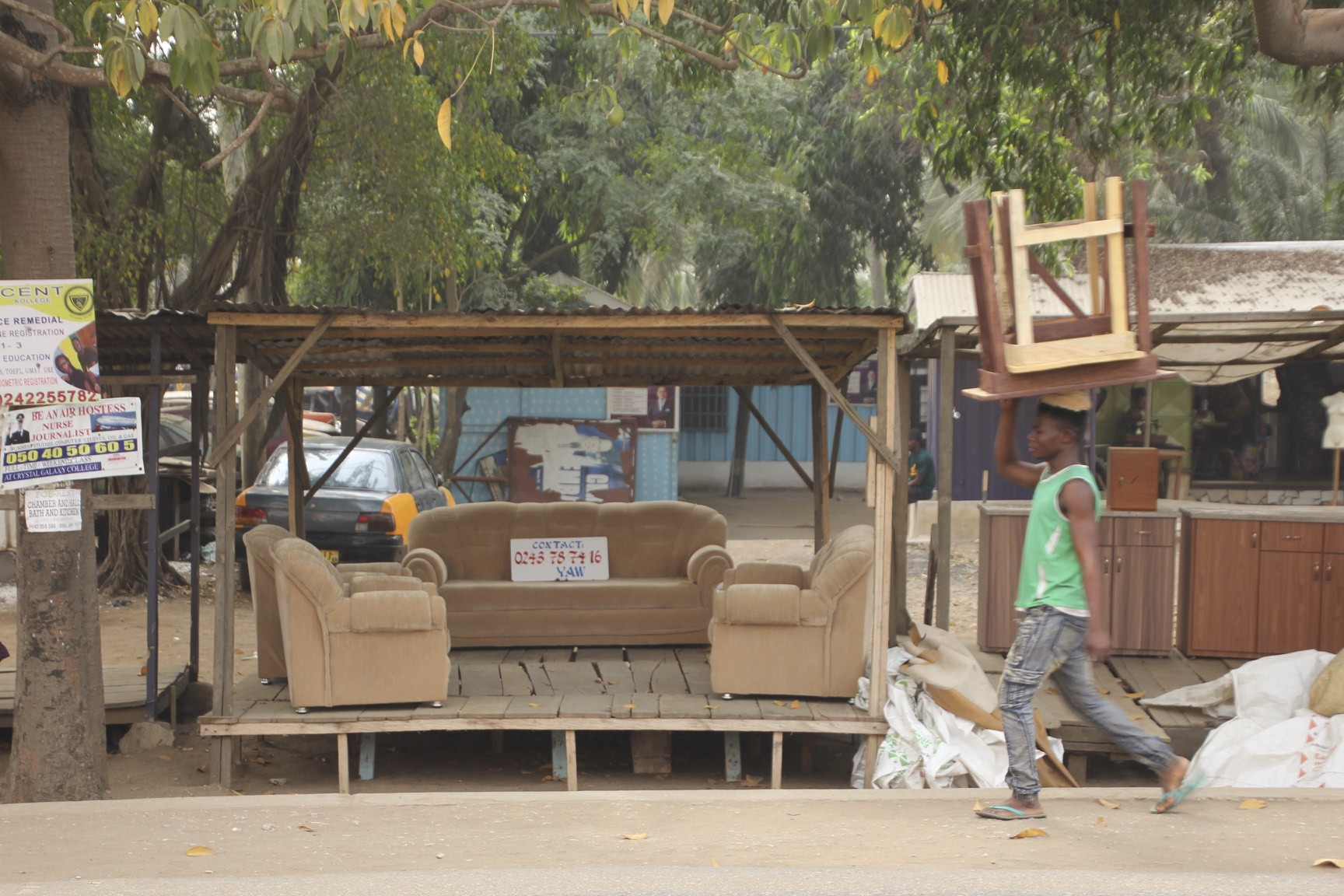 Street furniture store in Accra, Ghana