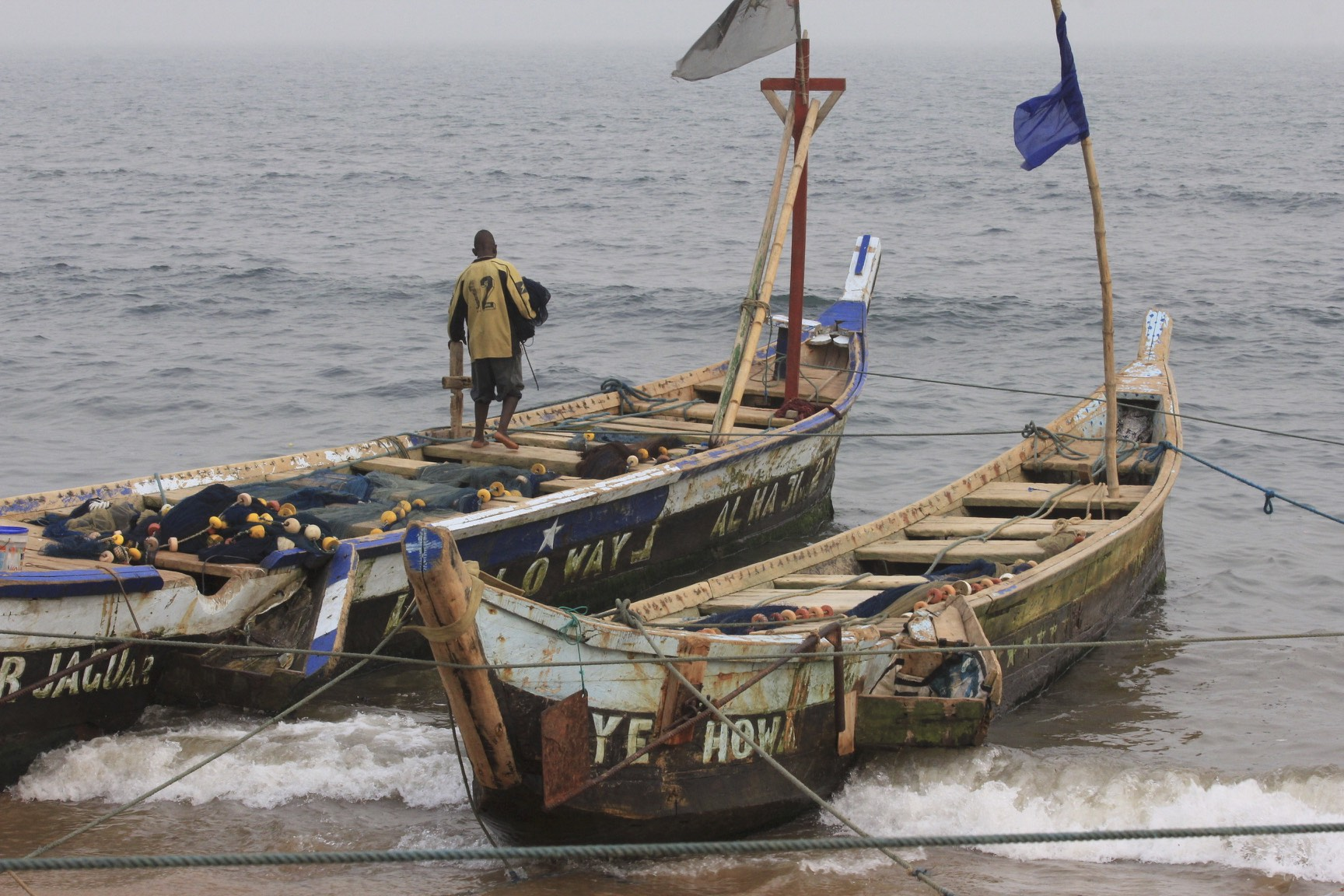 Fishing boats in Accra