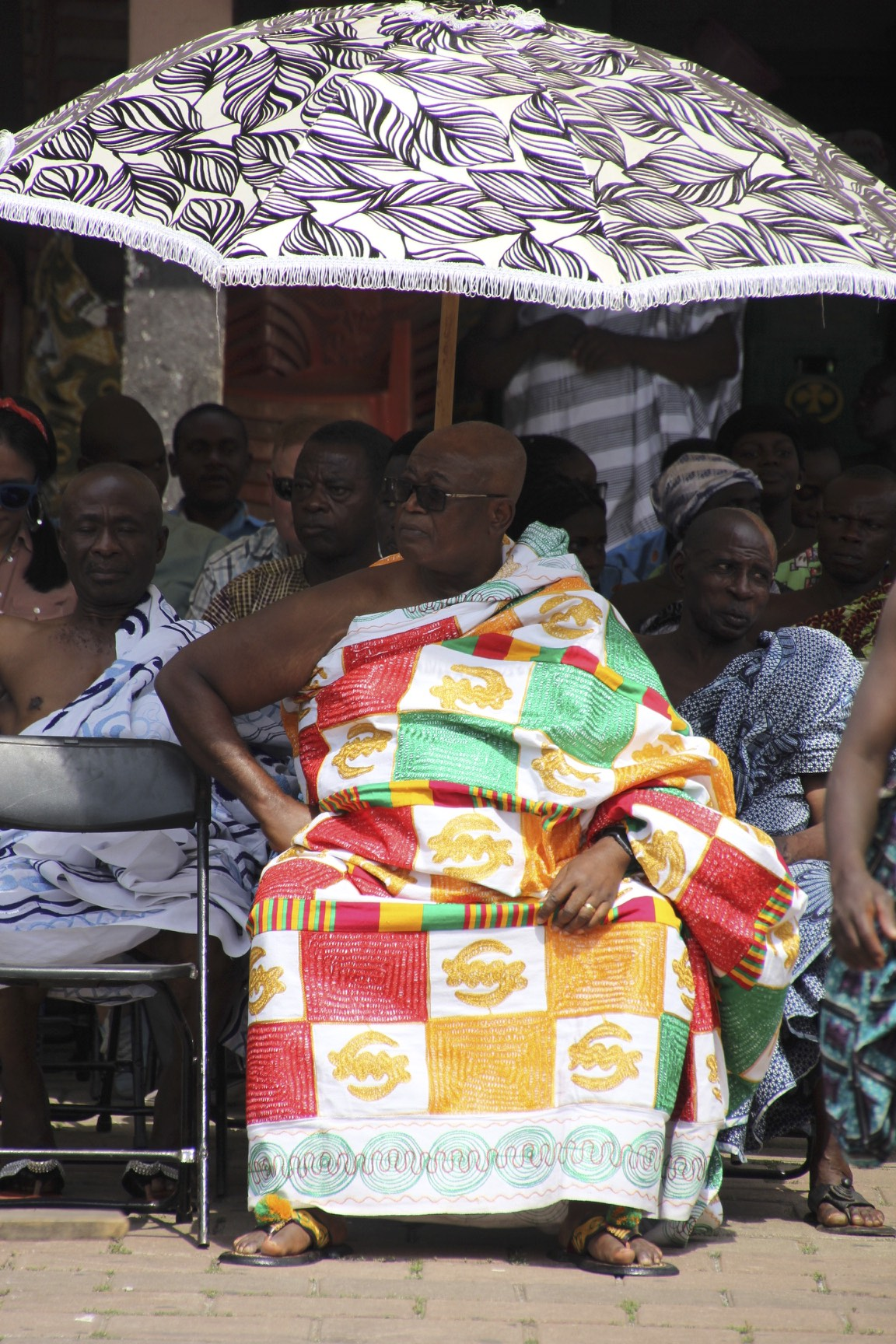 An Ashanti chief with a big umbrela