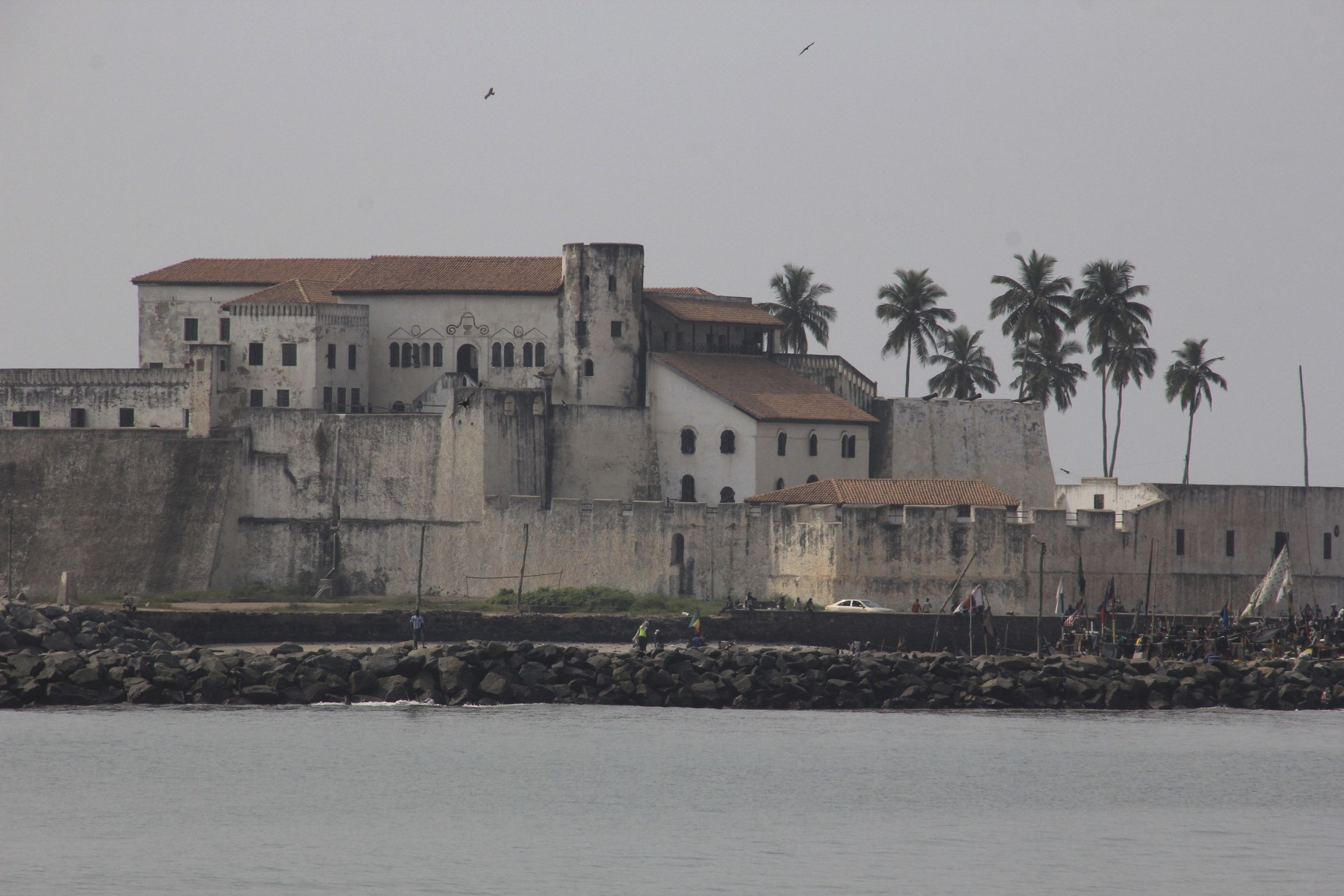 The Elmina slave castle built by the Portuguese in 1481