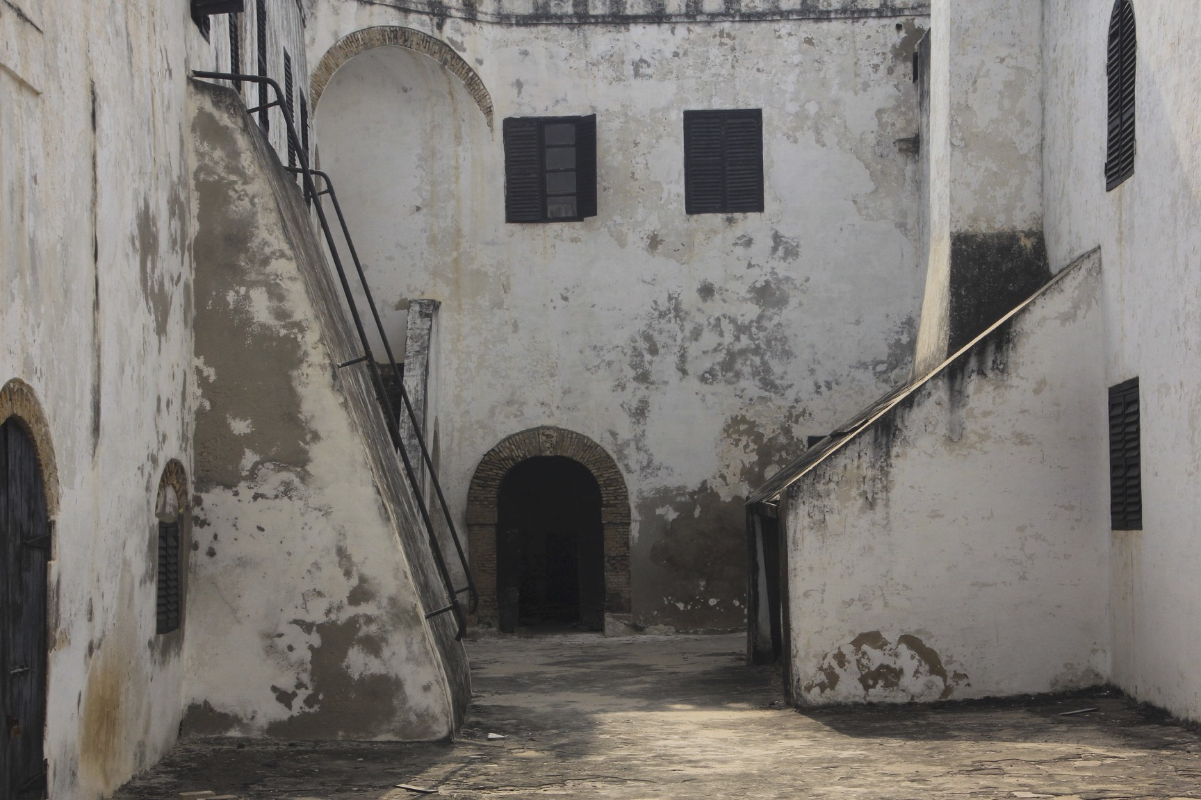 "The slave castle of Elmina. It was used as a set in the movie ""Cobra Verde"" by Werner Herzog."
