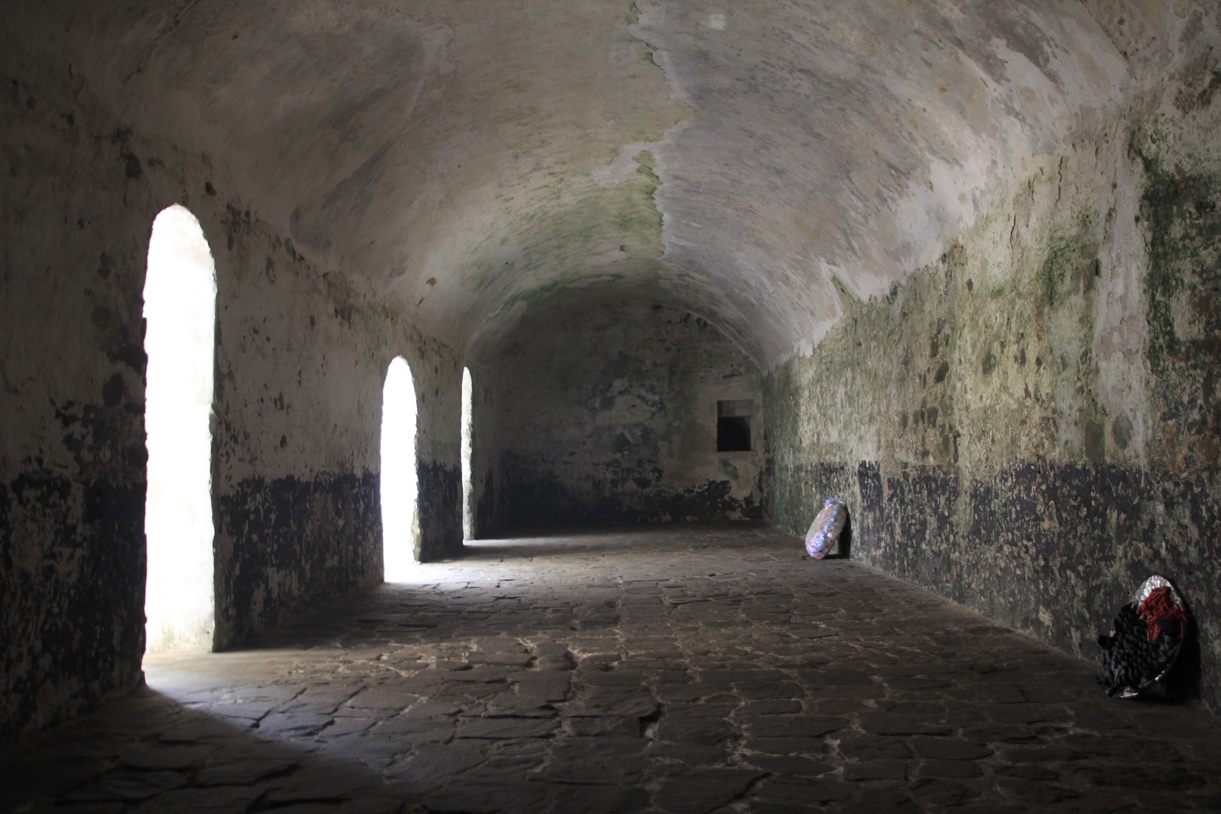 Salve holding cells in the Elmina slave castle