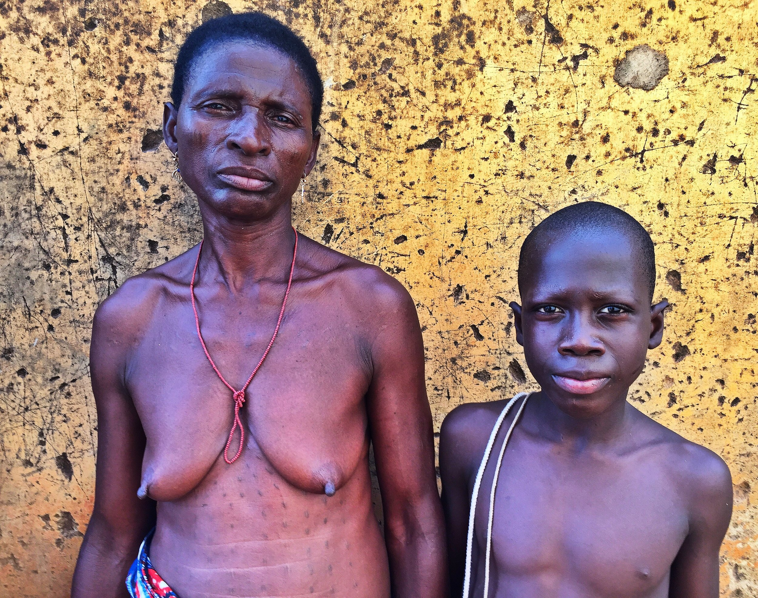 Mother and son in Northern Benin