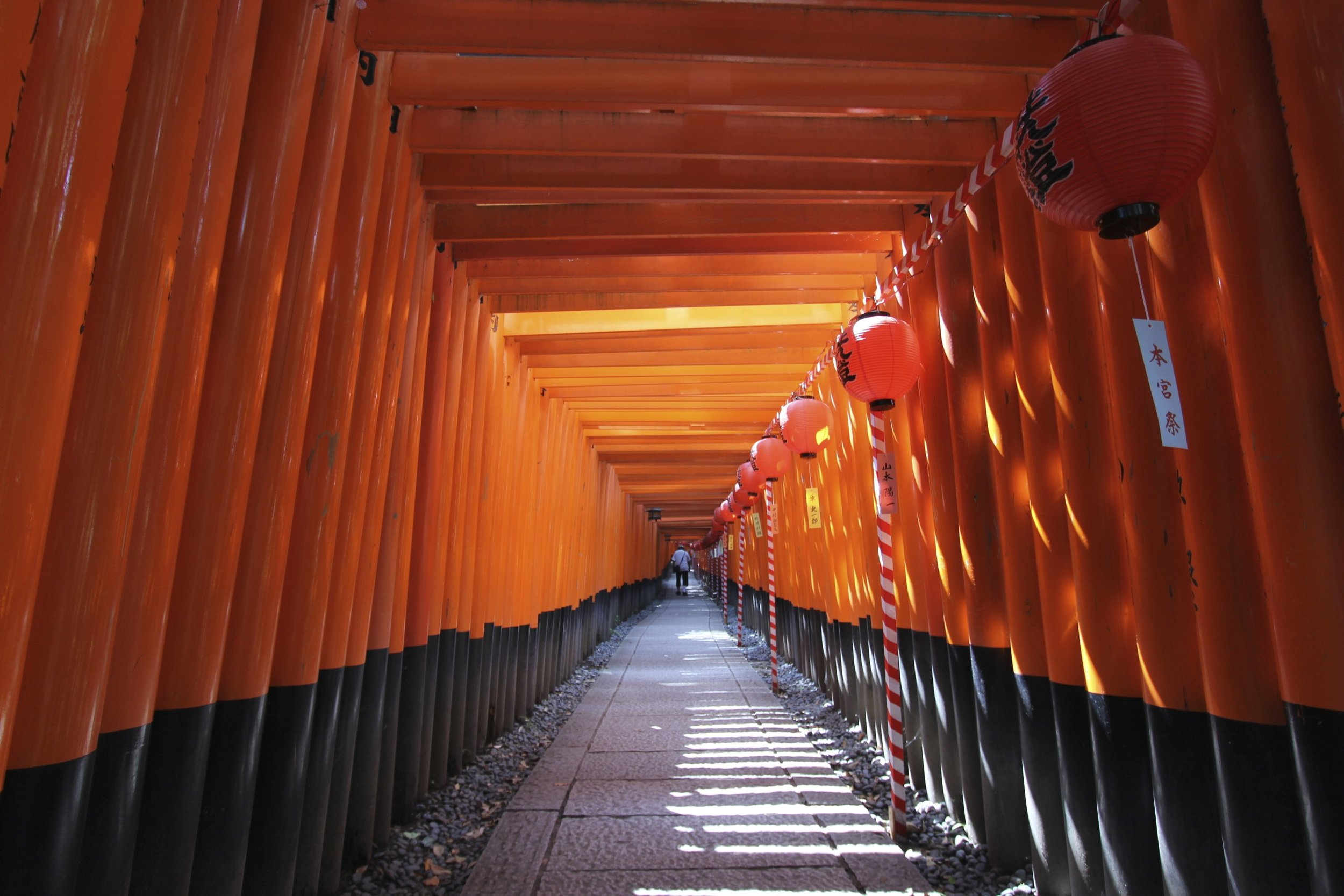 The red color has come to be identified with Inari, because of the prevalence of its use among Inari shrines and their torii.