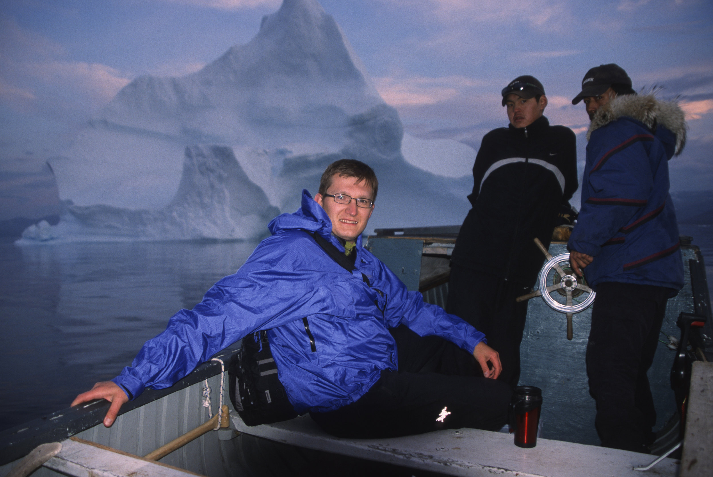 In 2003, my first trip to the Canadian Arctic. I met these Inuit who invited me to go seal hunting with them during the Arctic night.