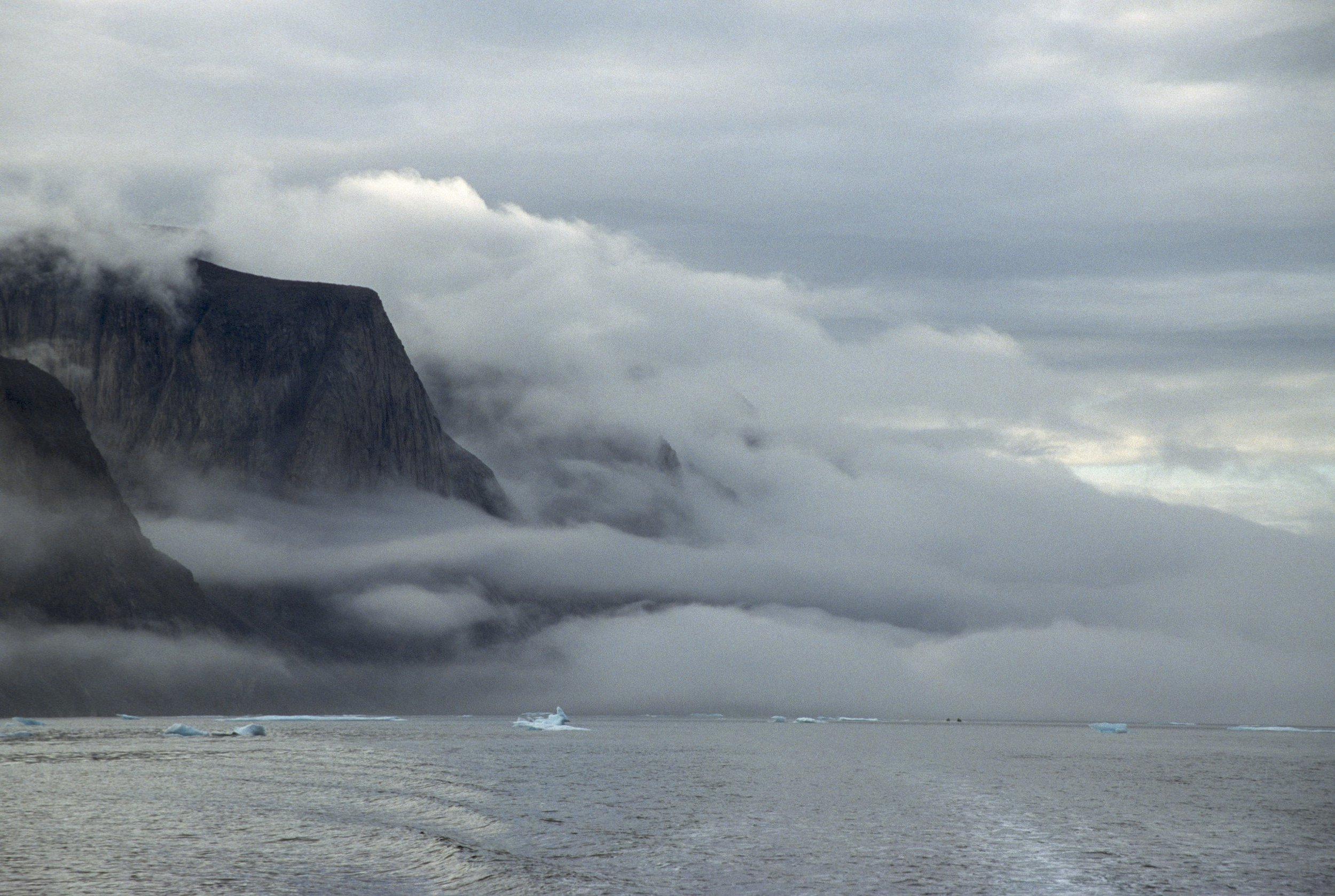 The rugged coast of Baffin Island