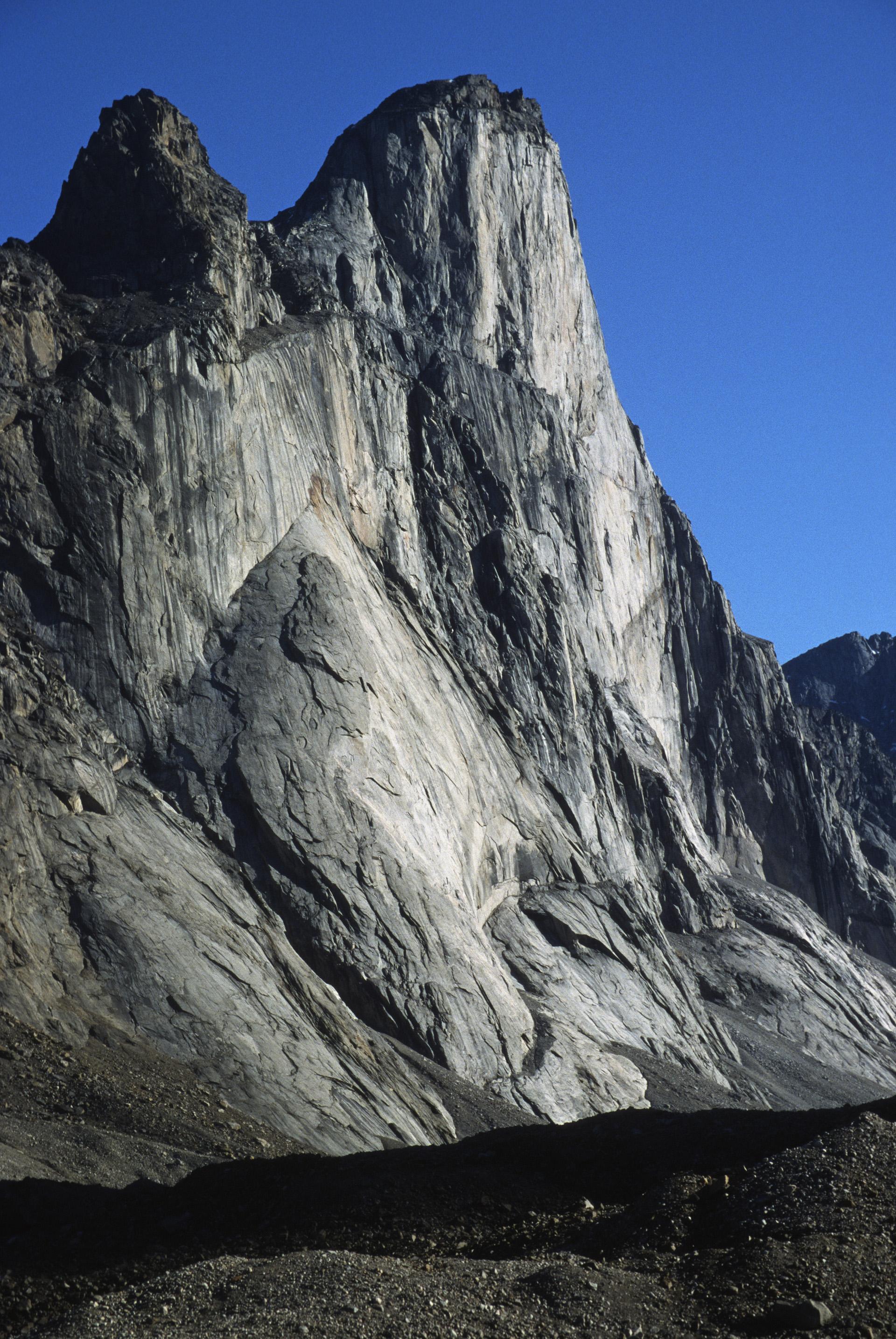 Mt. Thor's 1250m face