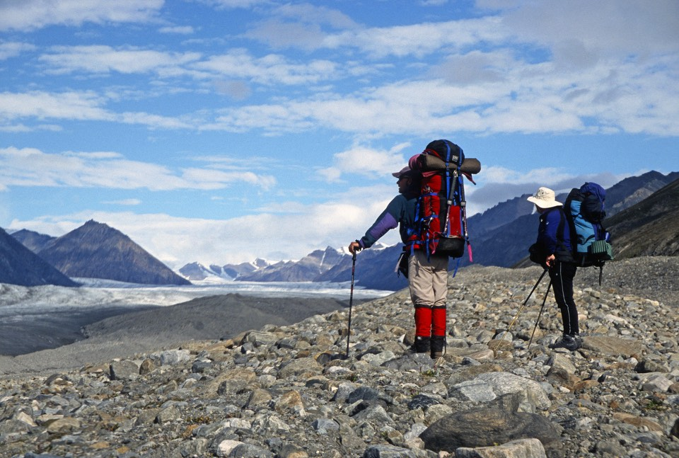 We decided to follow the Sermilik Glacier and climb the highest unnamed mountain on the horizon. We were probably the first people that climbed it.