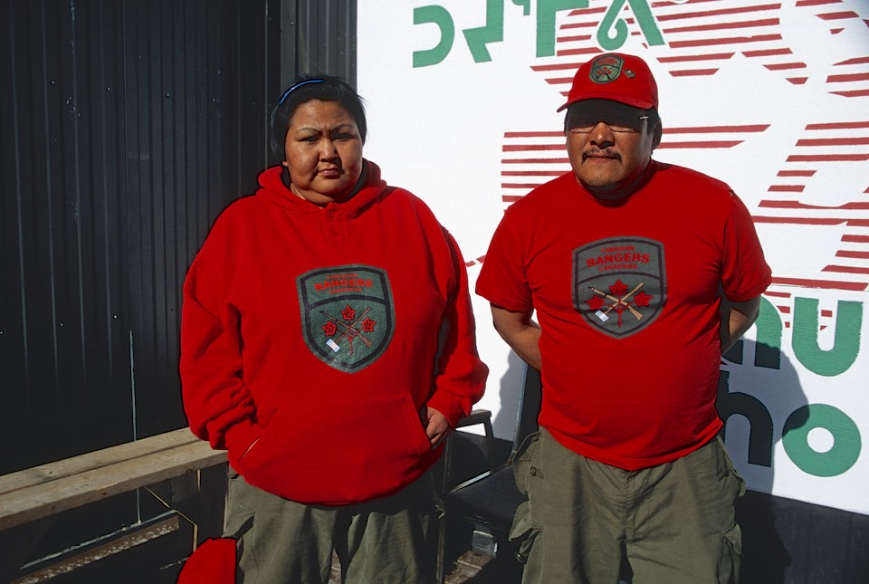Canadian Army in the North in Pond Inlet. They get a cool looking t-shirt and maybe a gun.