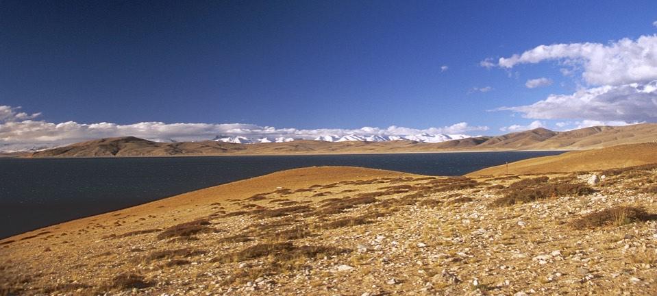 Lake Rakshastal at 4,590m which is connected to Lake Manasarovar
