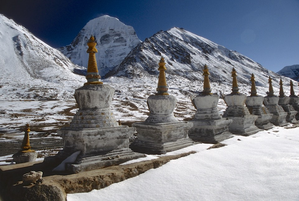 At the Dirapuk monastery at the north side of Mount Kailash at 5,080m.